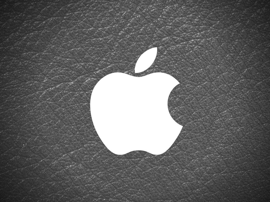 1024x768 wallpaper 4k Apple Logo Leather Black and White iPad Wallpaper 1024x768 pixels resolution