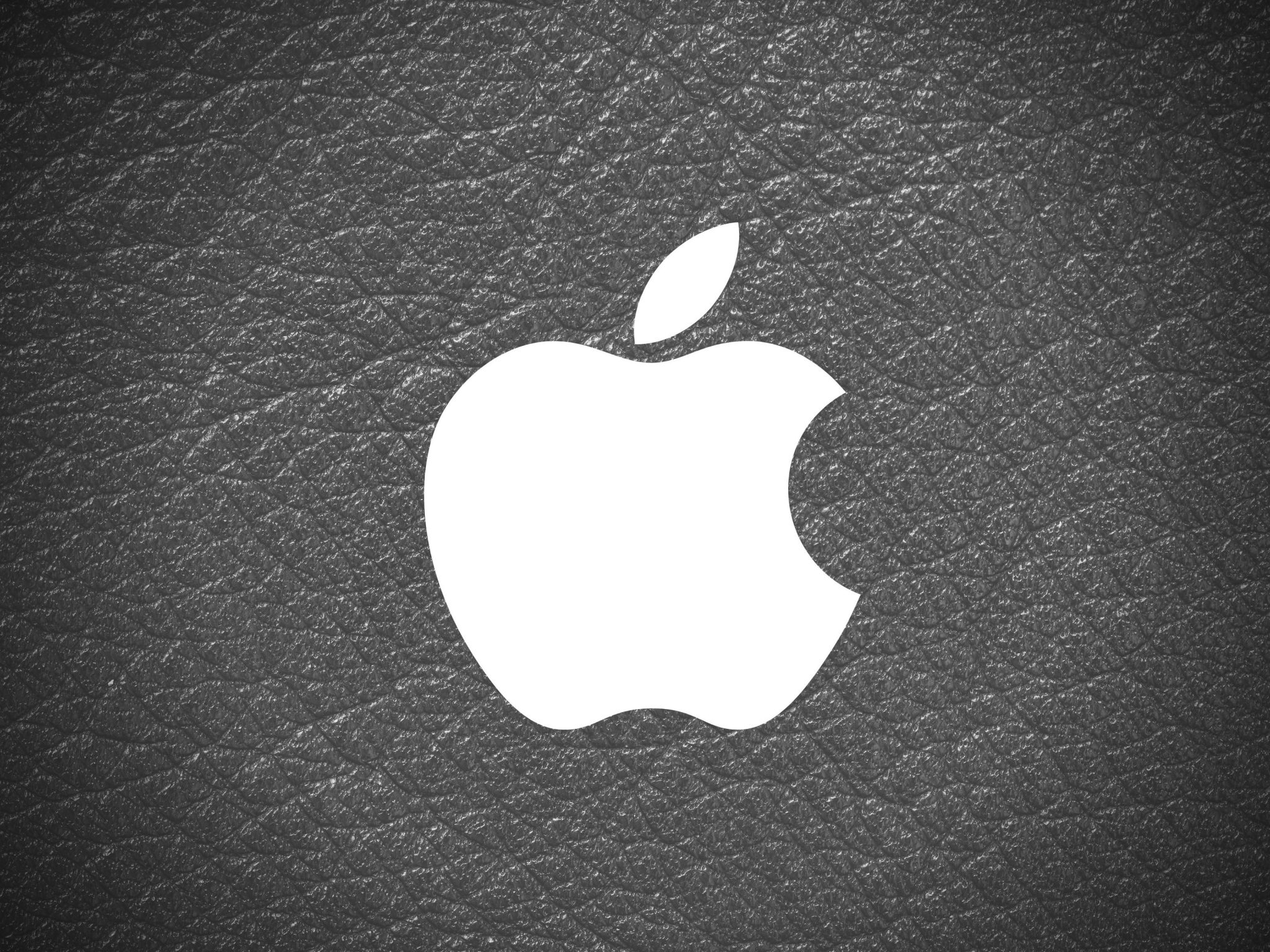 2048x1536 wallpaper Apple Logo Leather Black and White iPad Wallpaper 2048x1536 pixels resolution