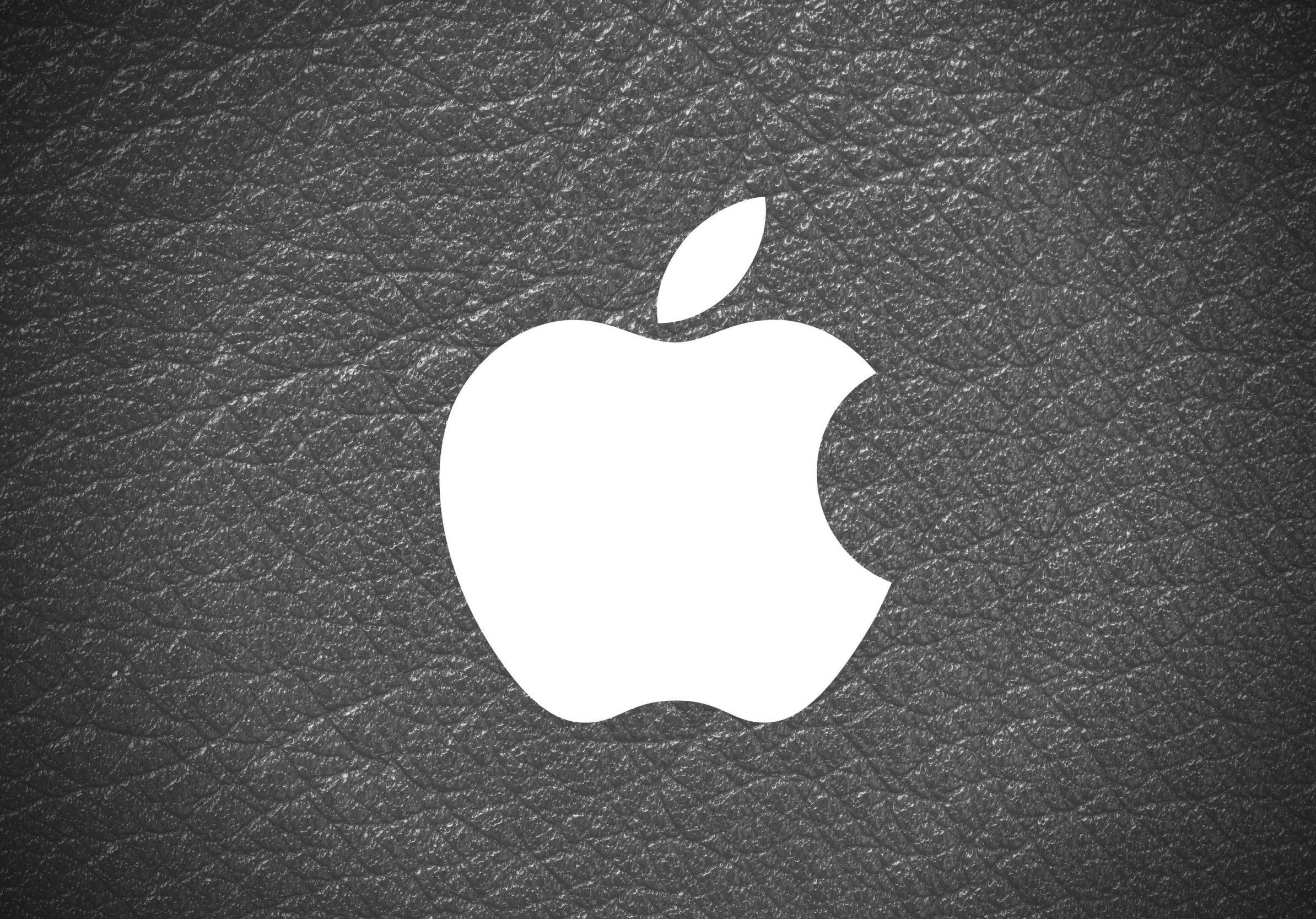 2388x1668 iPad Pro wallpapers Apple Logo Leather Black and White iPad Wallpaper 2388x1668 pixels resolution