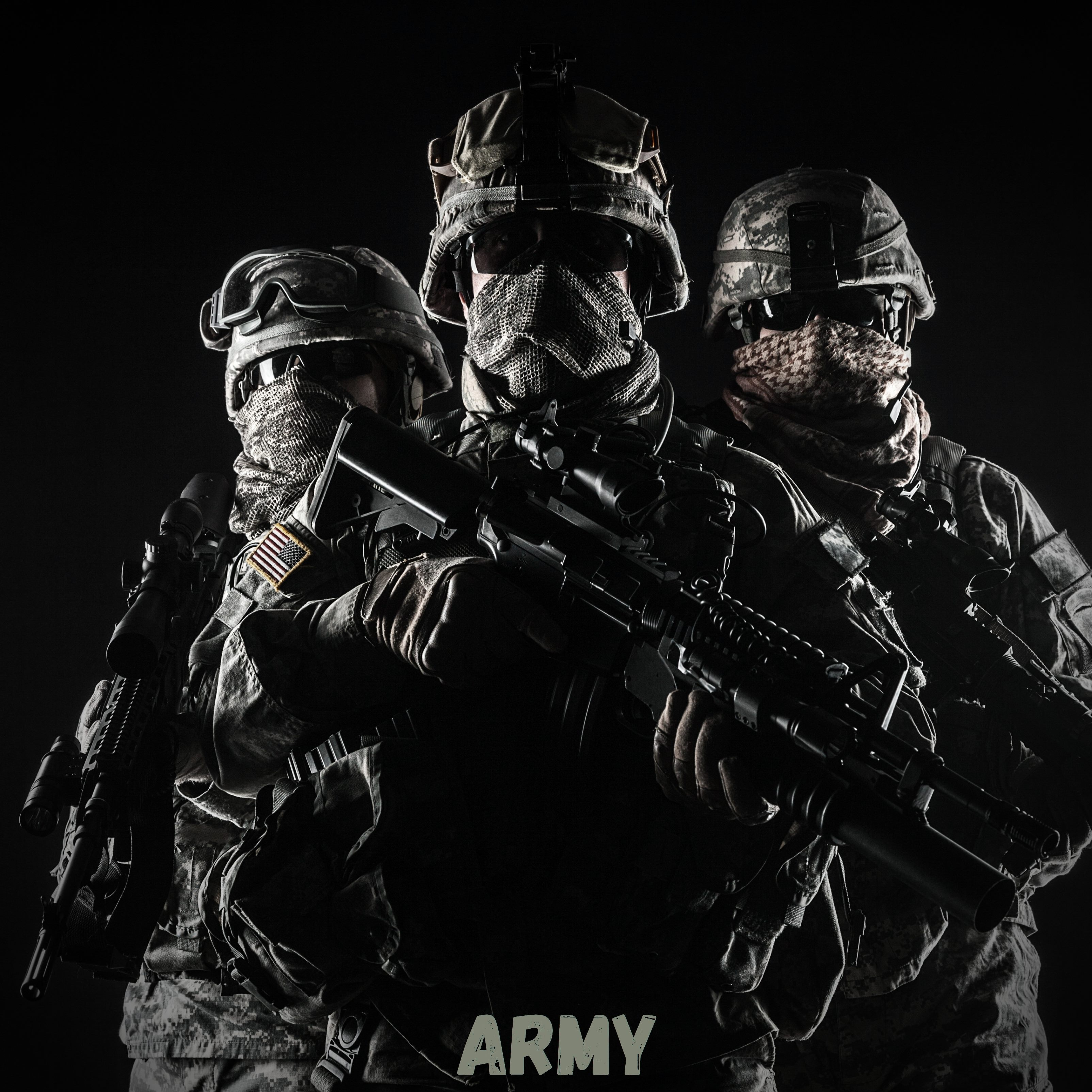 iPad Wallpapers Army Soldiers iPad Wallpaper 3208x3208 px