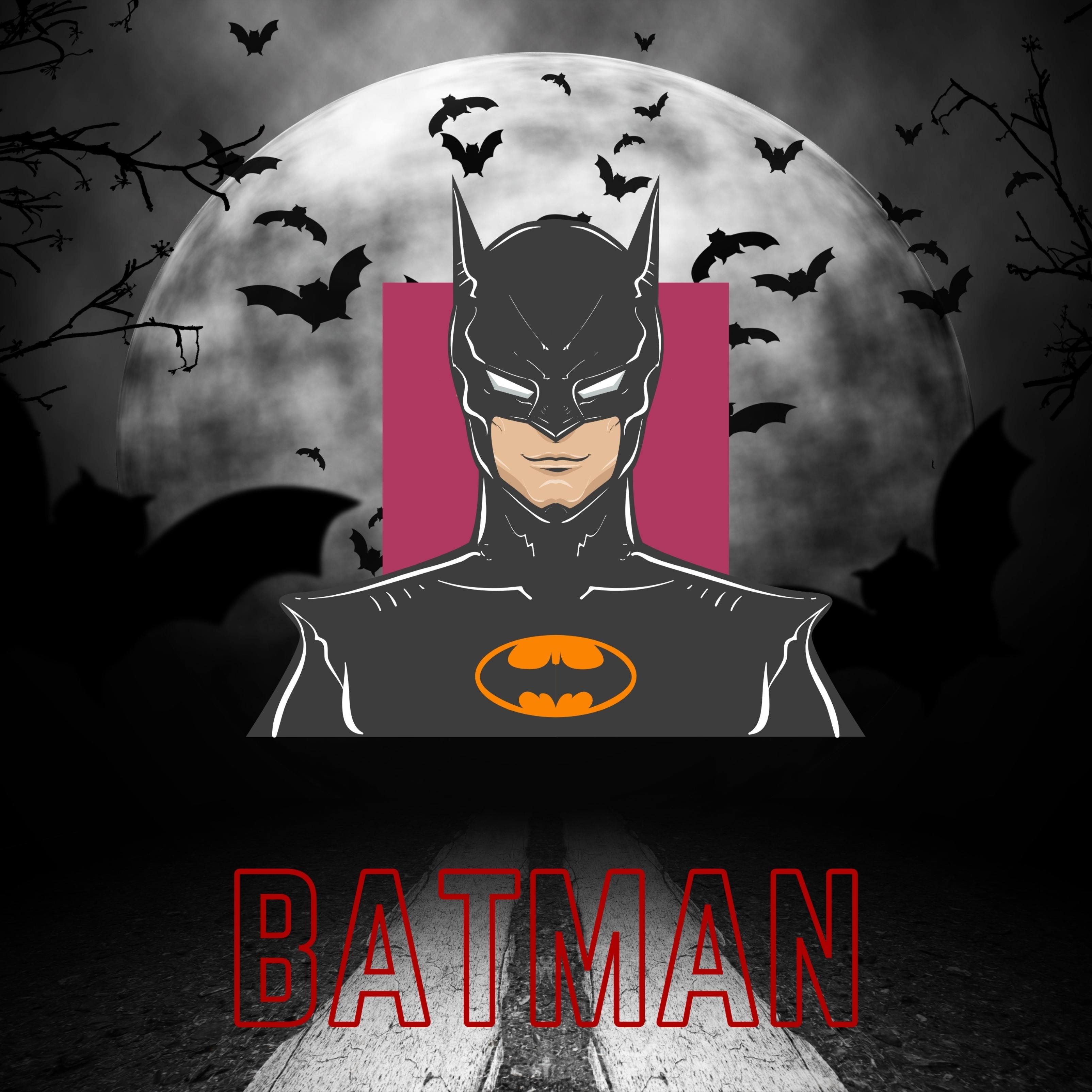 Batman Full Moon iPad Wallpaper