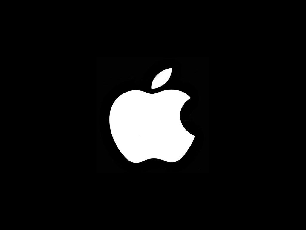 1024x768 wallpaper 4k Black Background White Apple iPad Wallpaper 1024x768 pixels resolution
