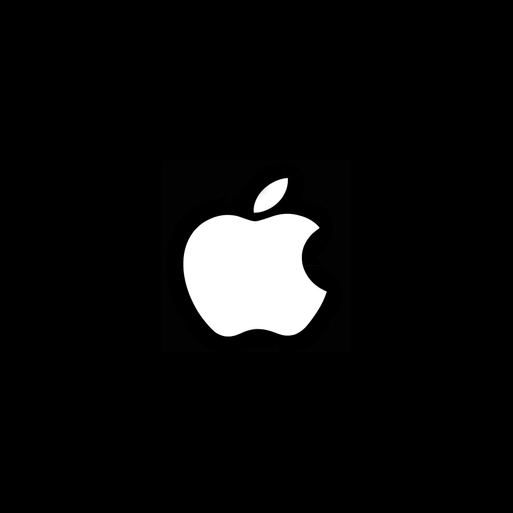 2048x2048 wallpapers iPad retina Black Background White Apple iPad Wallpaper 2048x2048 pixels resolution