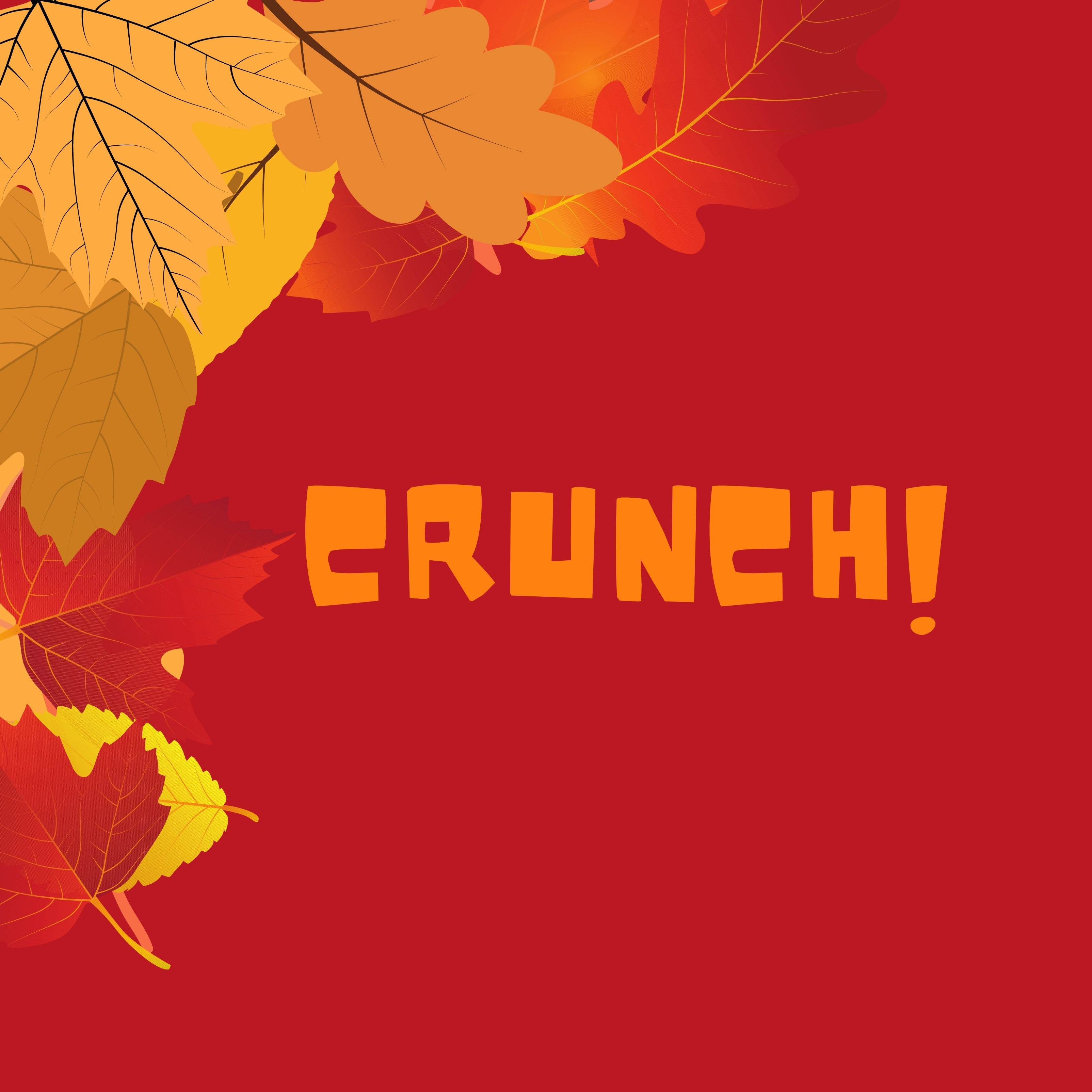 Crunch Autumn Leaves Red iPad Wallpaper