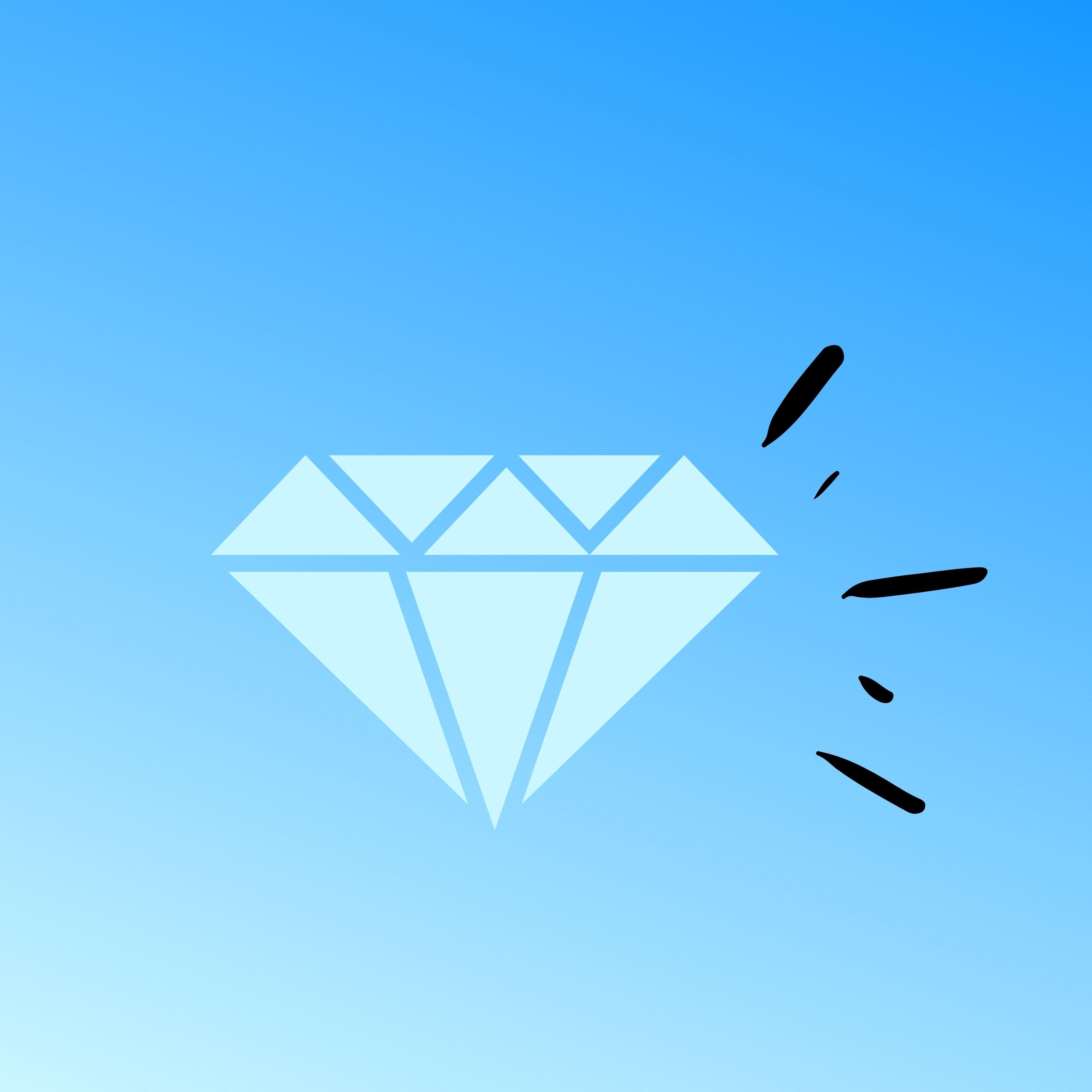Diamond Crystal Gem Luxury Blue iPad Wallpaper