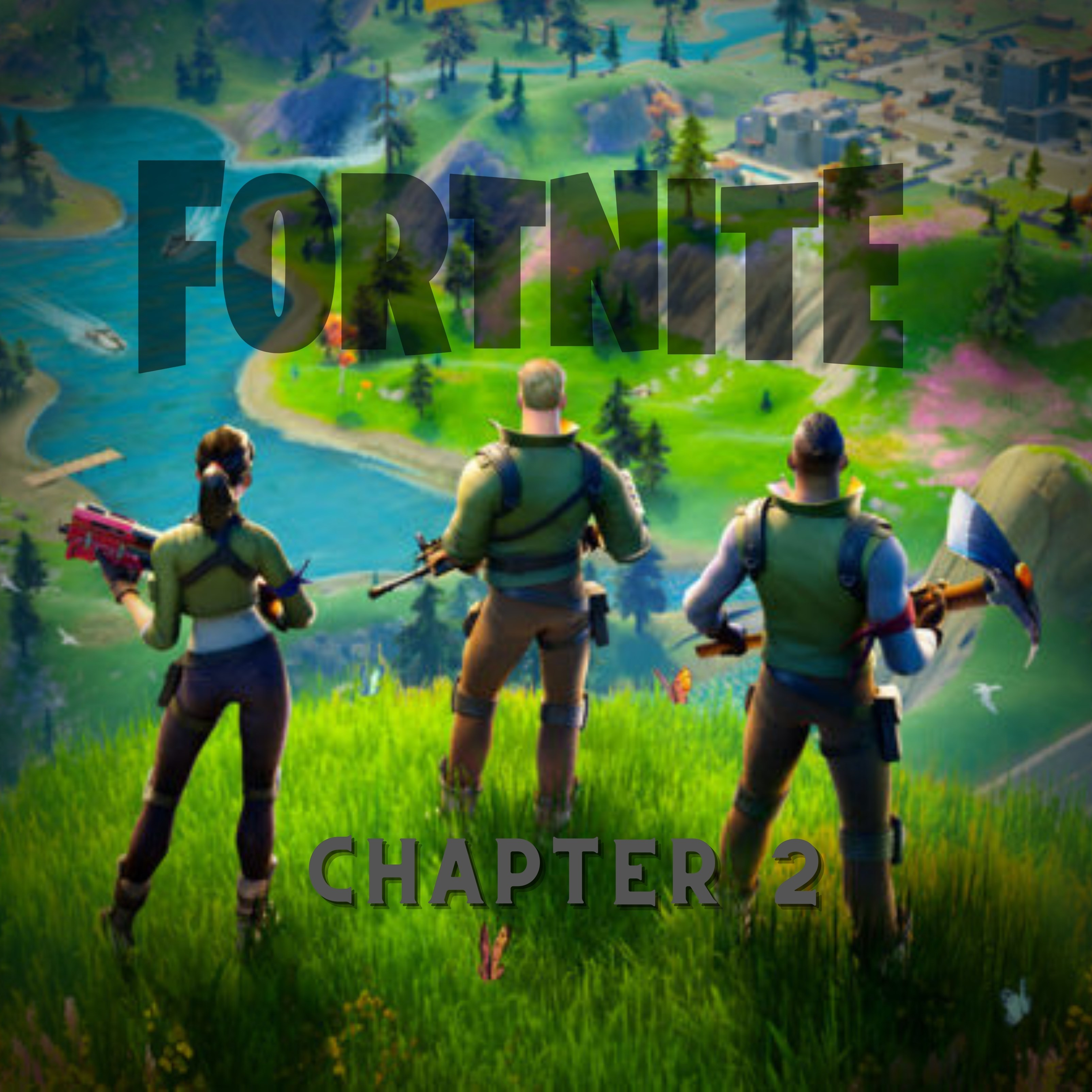 Fornite Video Game Chapter 2 iPad Wallpaper