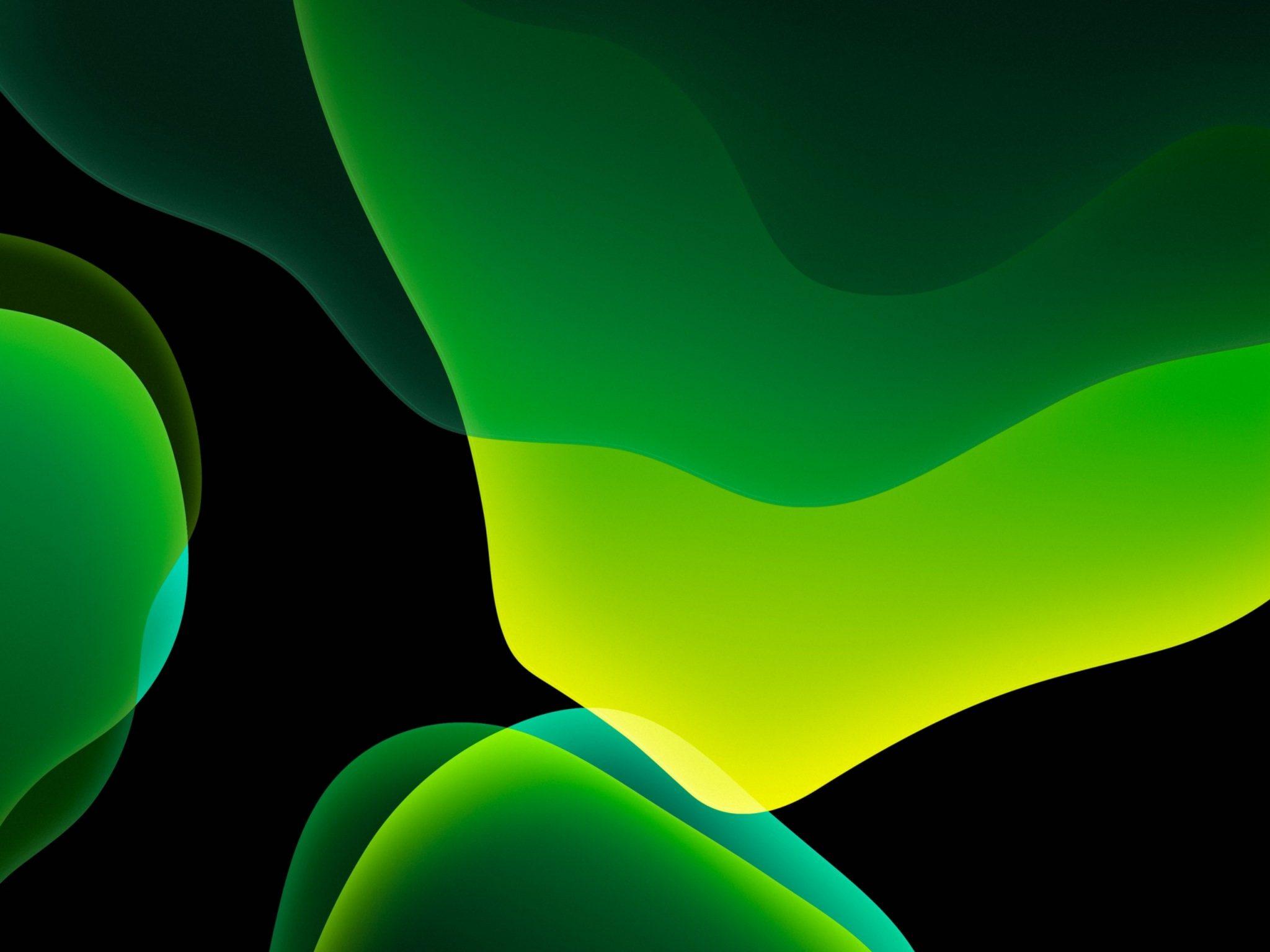 2048x1536 wallpaper Green Dark Ipados Ipad Wallpaper 2048x1536 pixels resolution