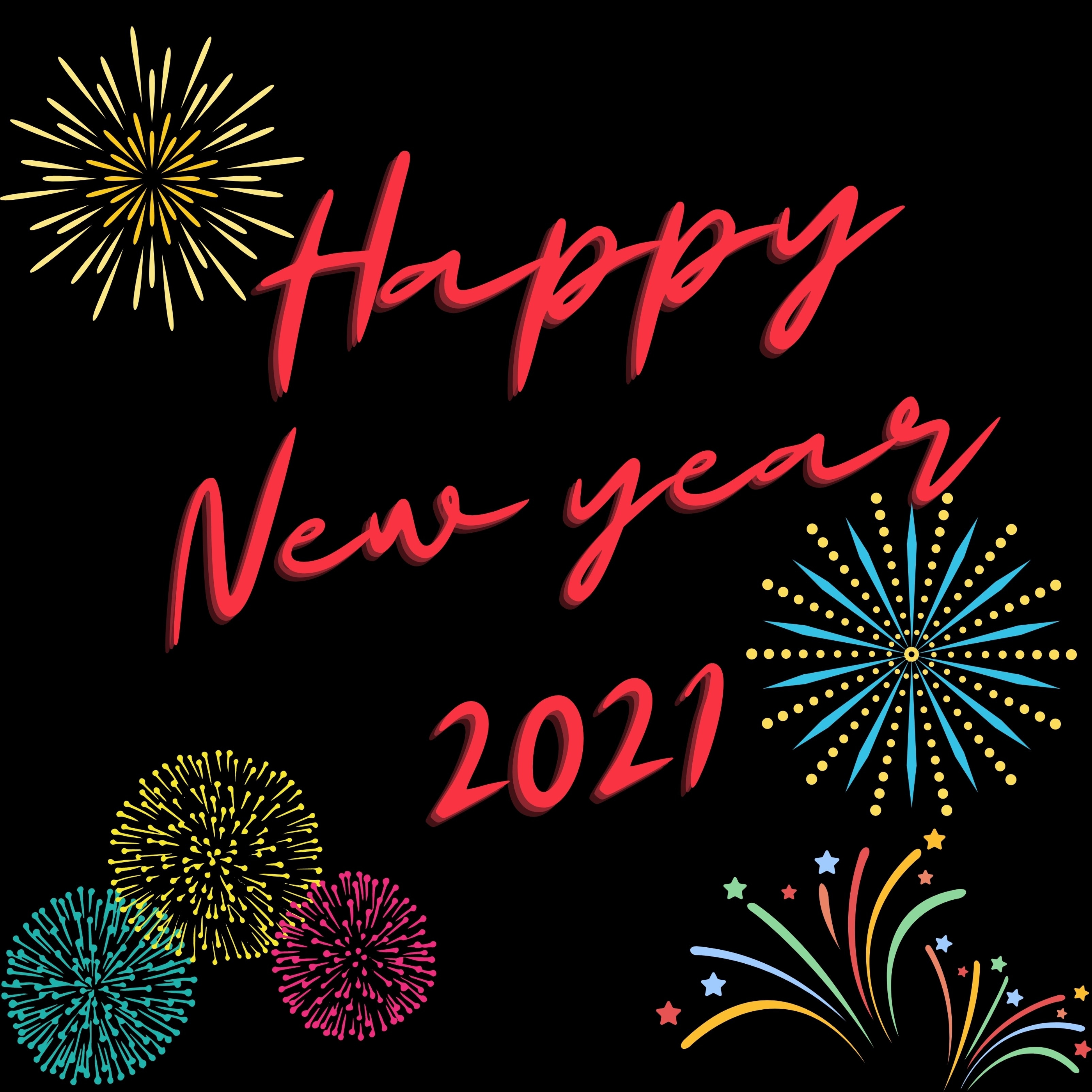 Happy New Year 2021 iPad Wallpaper