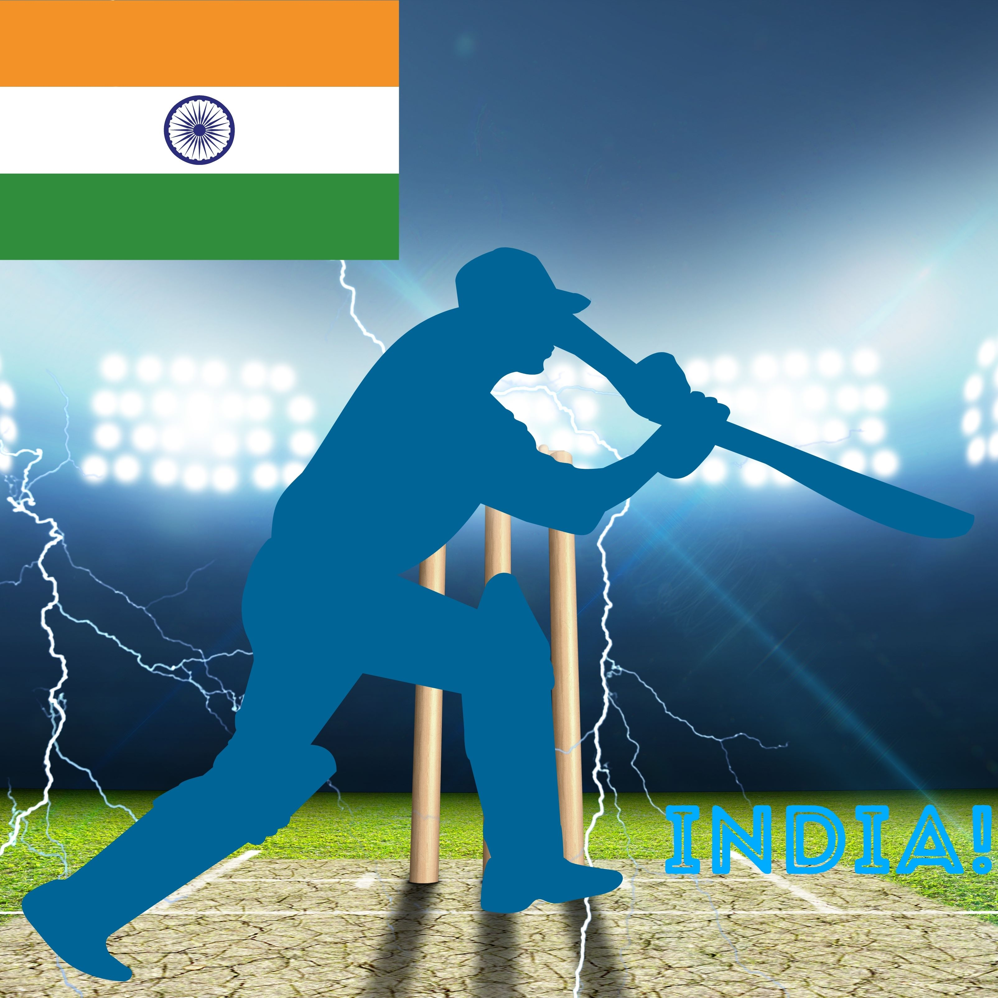 India Cricket Stadium iPad Wallpaper