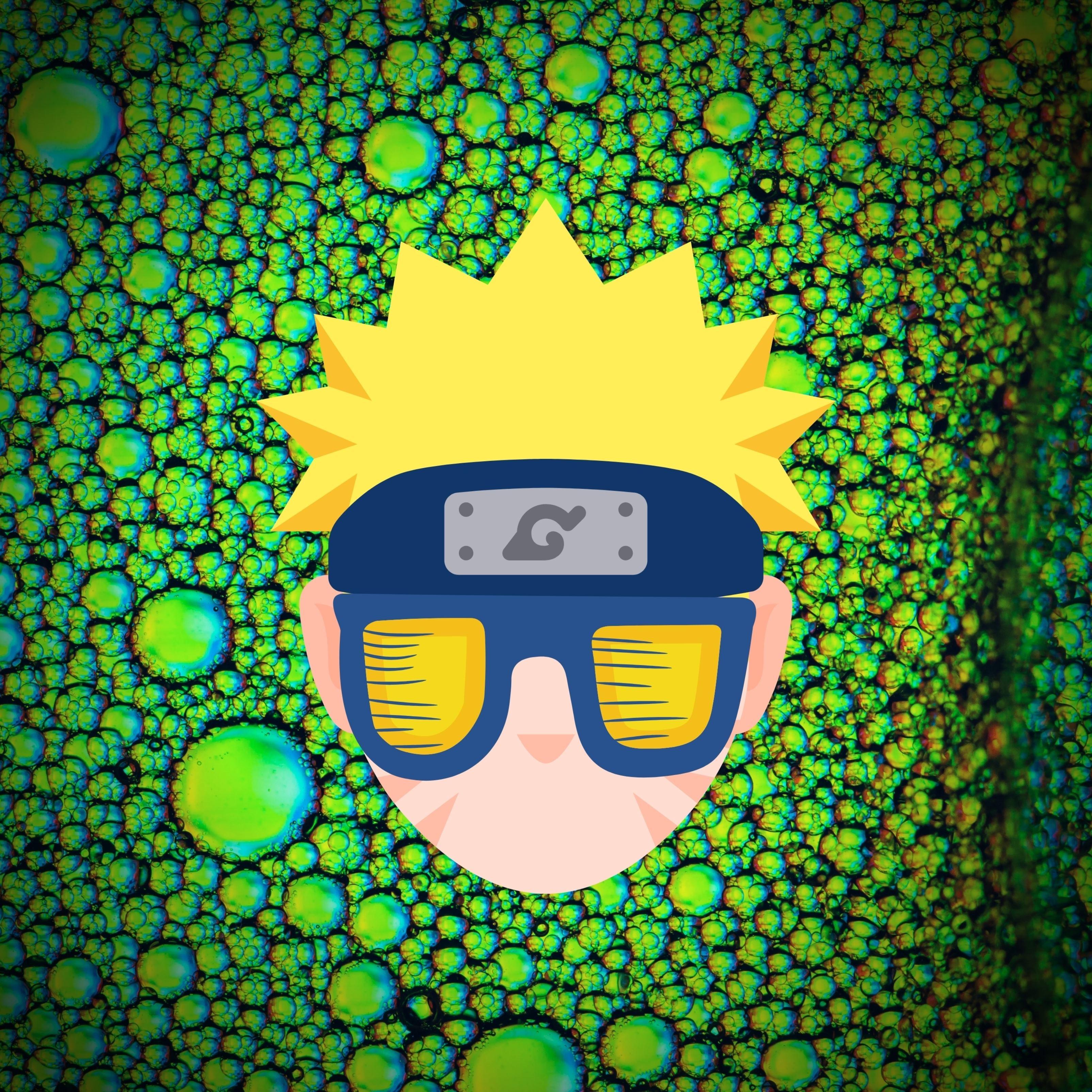 Naruto Cool Glasses iPad Wallpaper