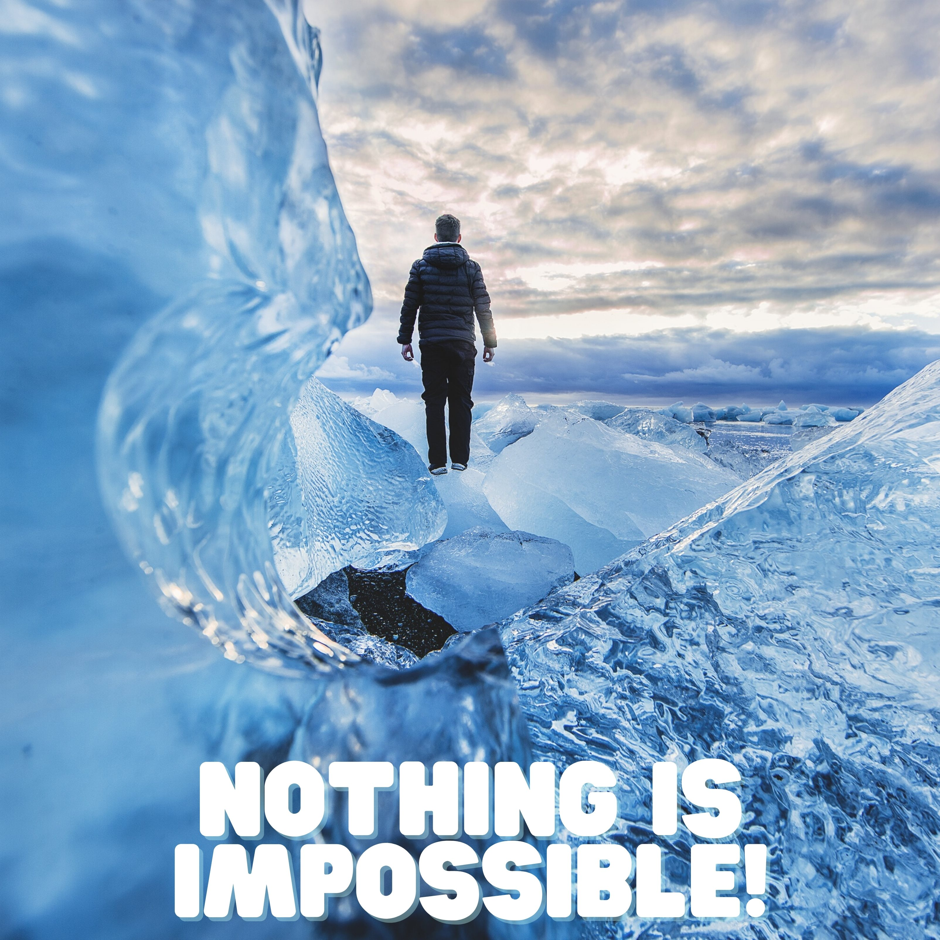 Nothing Is Impossible Quote iPad Wallpaper