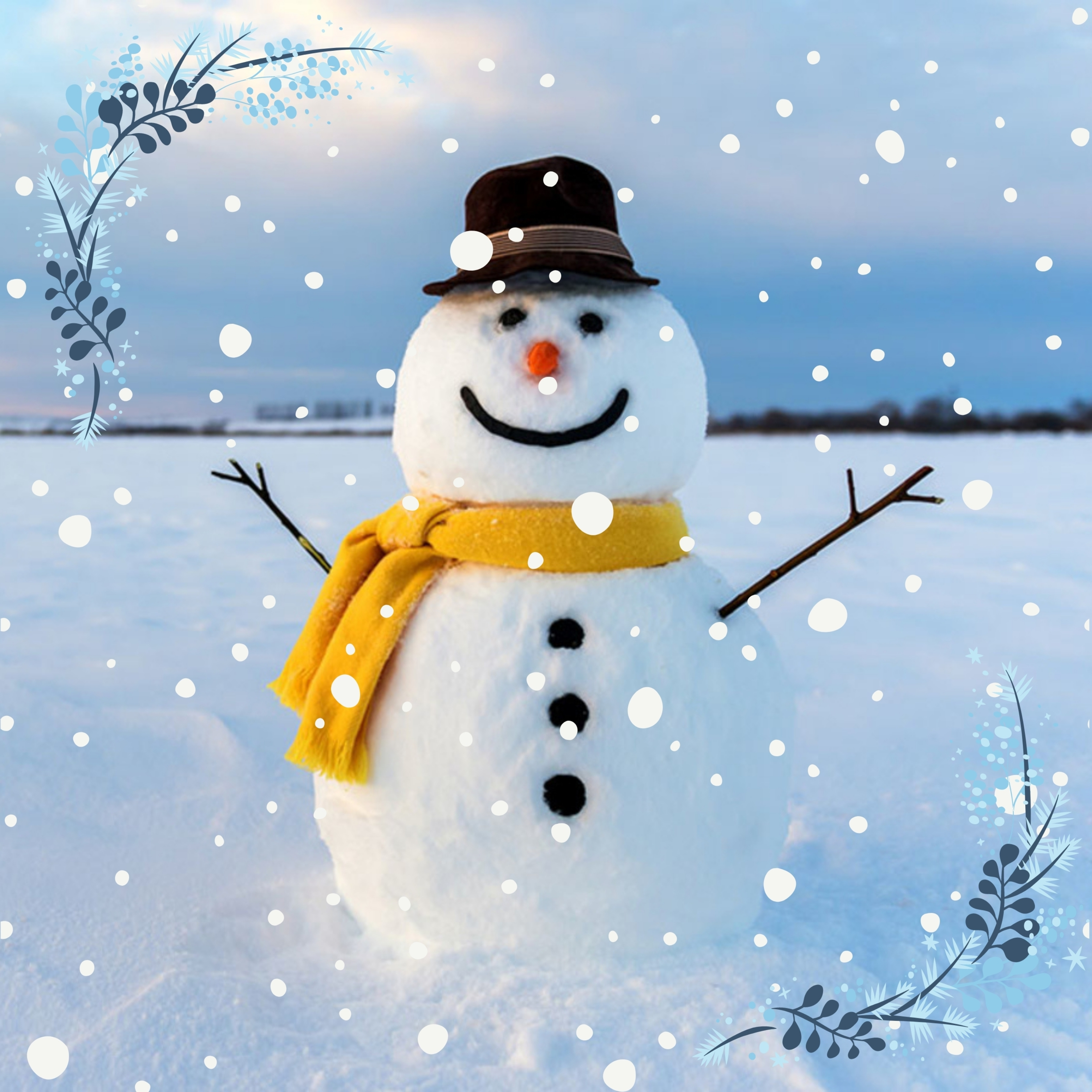 Snowman Winter Ipad Wallpaper