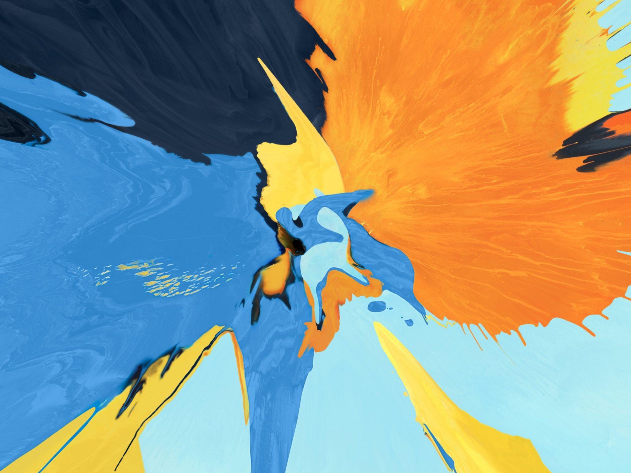 2160x1620 iPad wallpaper 4k Splash Blue Yellow Black Ipad Wallpaper 2160x1620 pixels resolution
