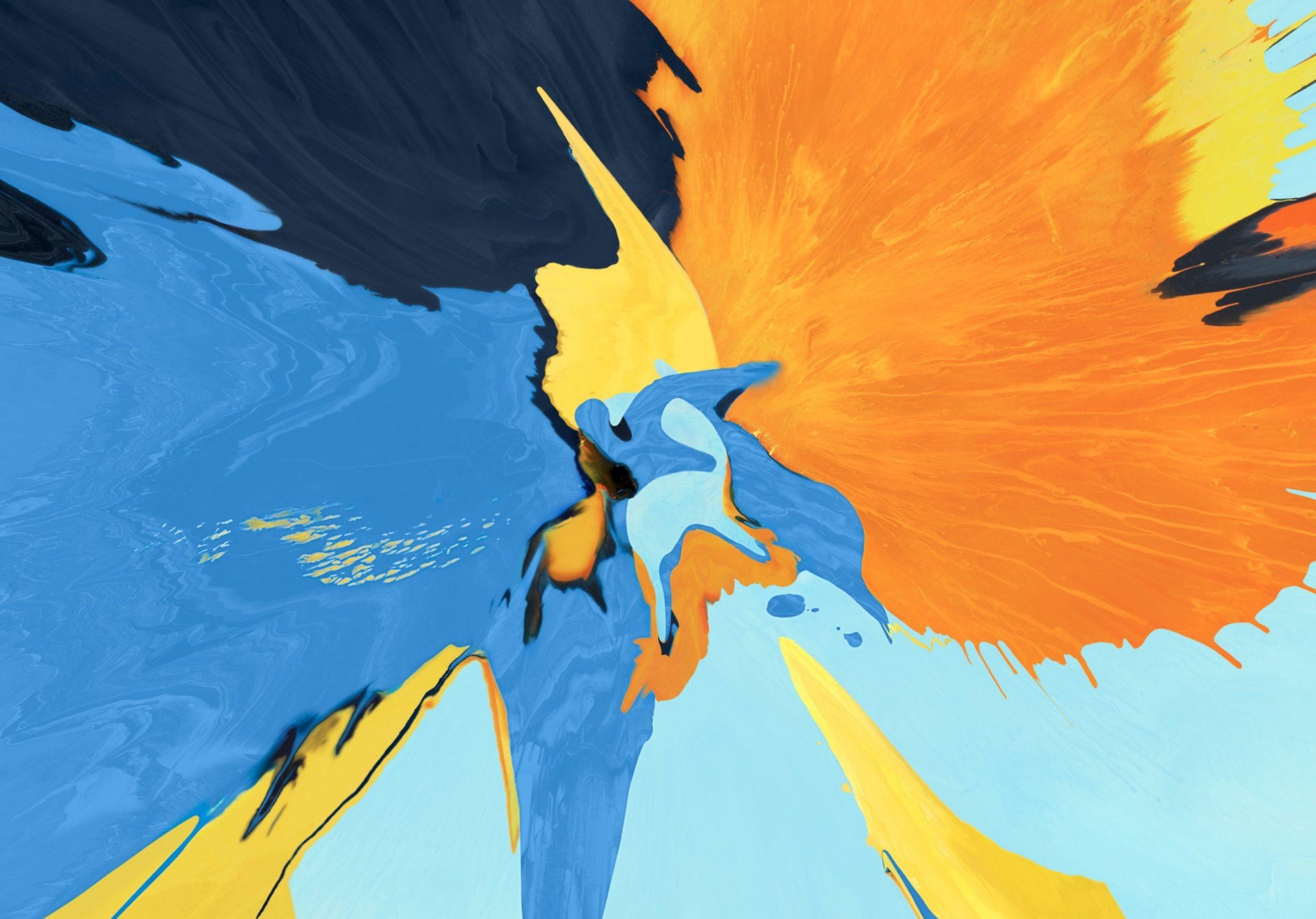 2388x1668 iPad Pro wallpapers Splash Blue Yellow Black Ipad Wallpaper 2388x1668 pixels resolution