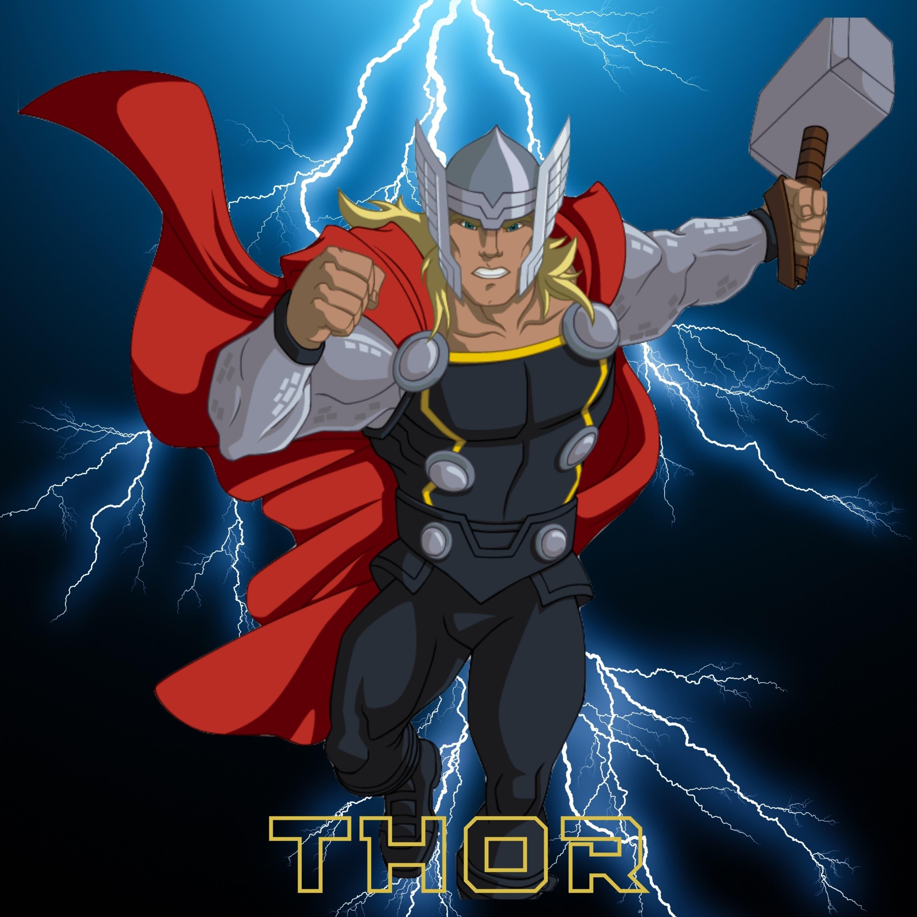 Thor Lightning Background iPad Wallpaper
