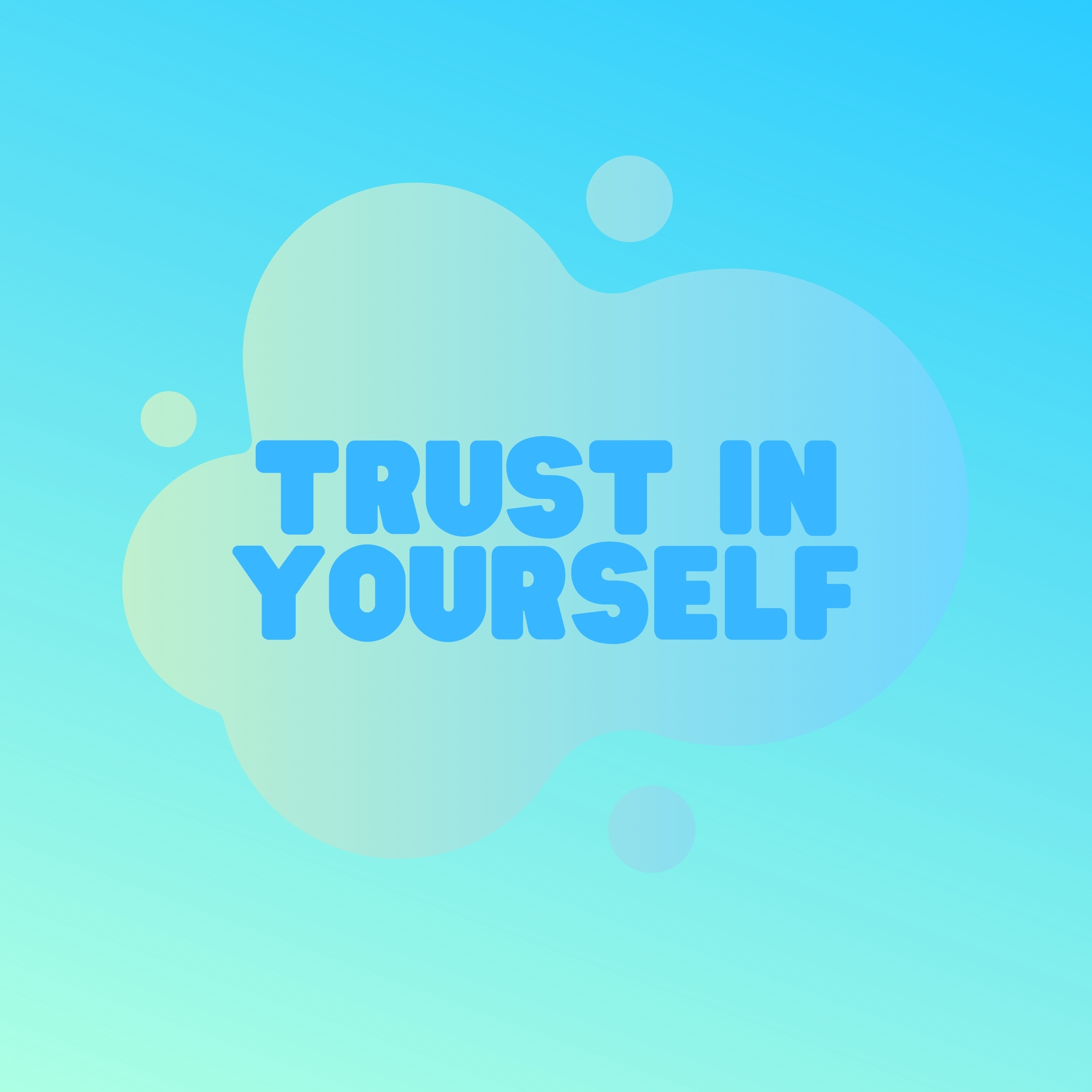 Trust in Yourself Quote iPad Wallpaper