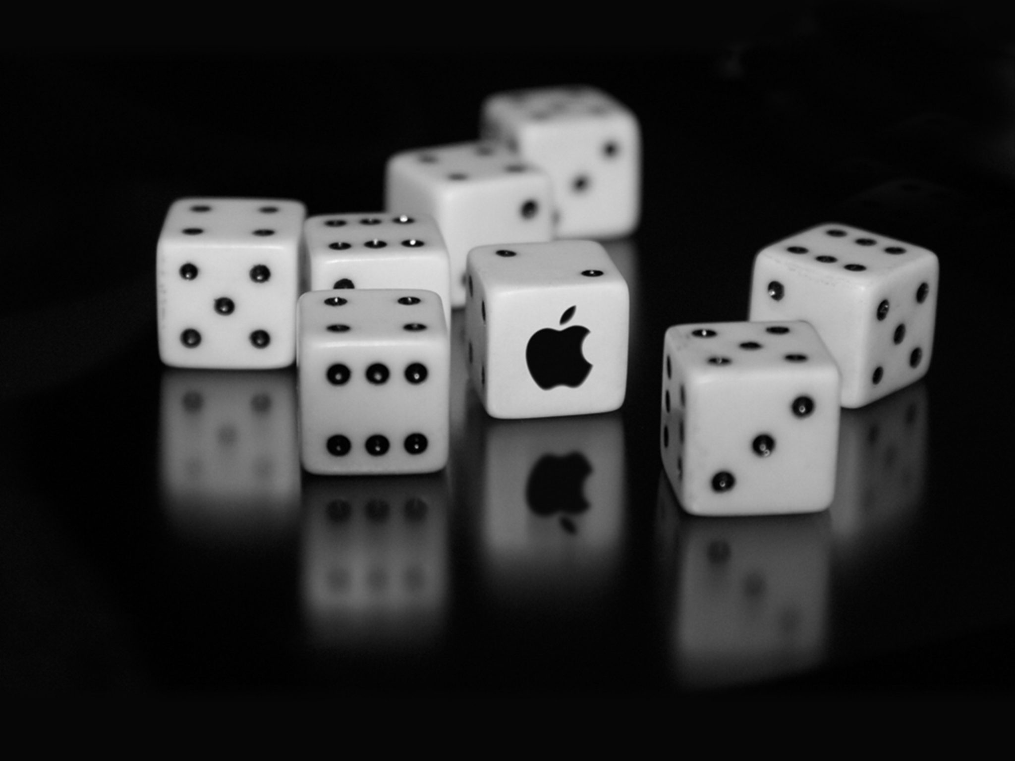 2048x1536 wallpaper Apple Logo Dice Ipad Wallpaper 2048x1536 pixels resolution