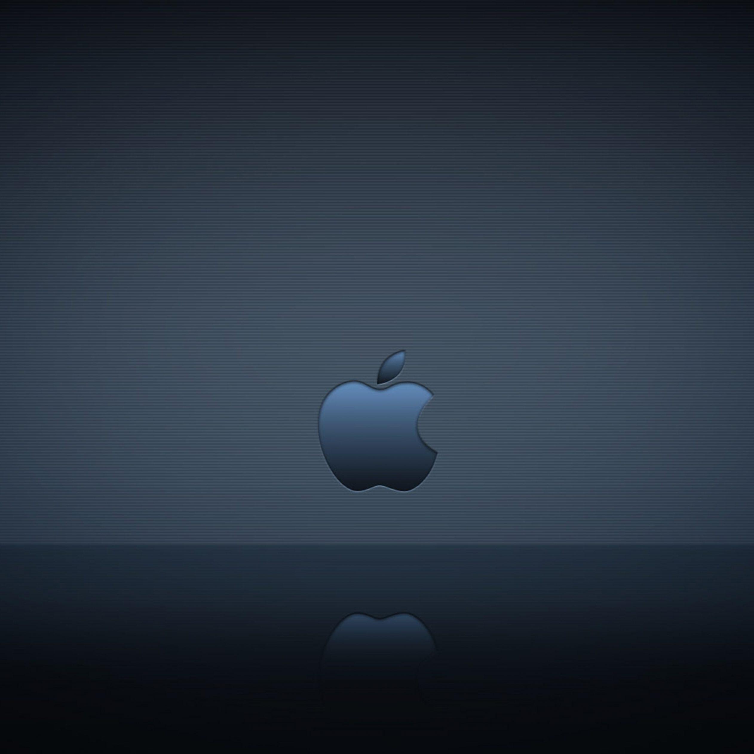 2524x2524 Parallax wallpaper 4k Apple Logo Reflection Ipad Wallpaper 2524x2524 pixels resolution