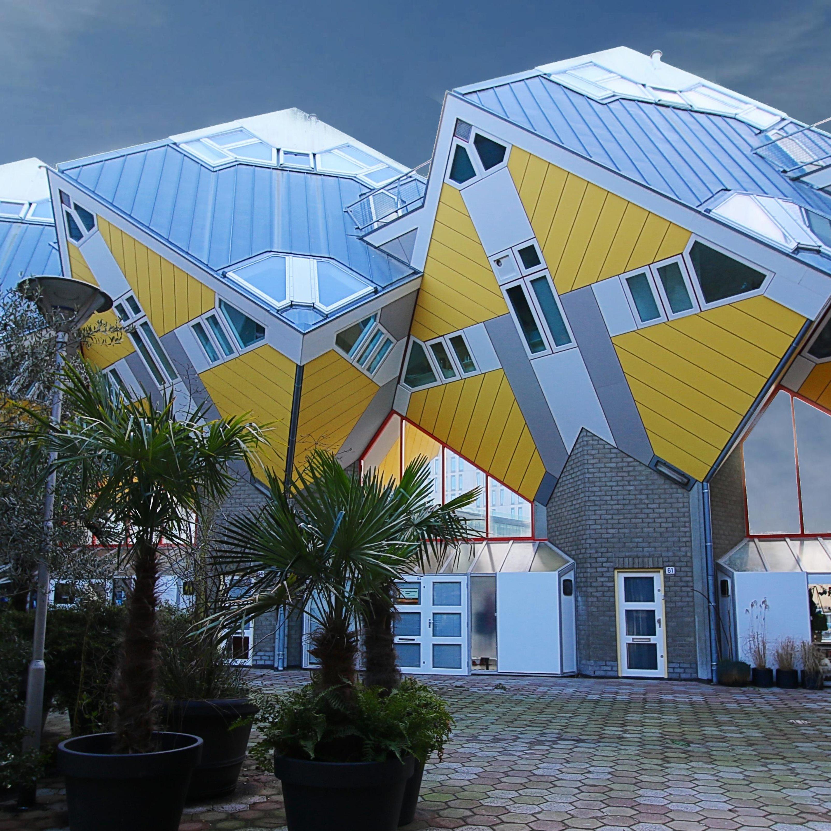 Diamond Yellow Houses Ipad Wallpaper
