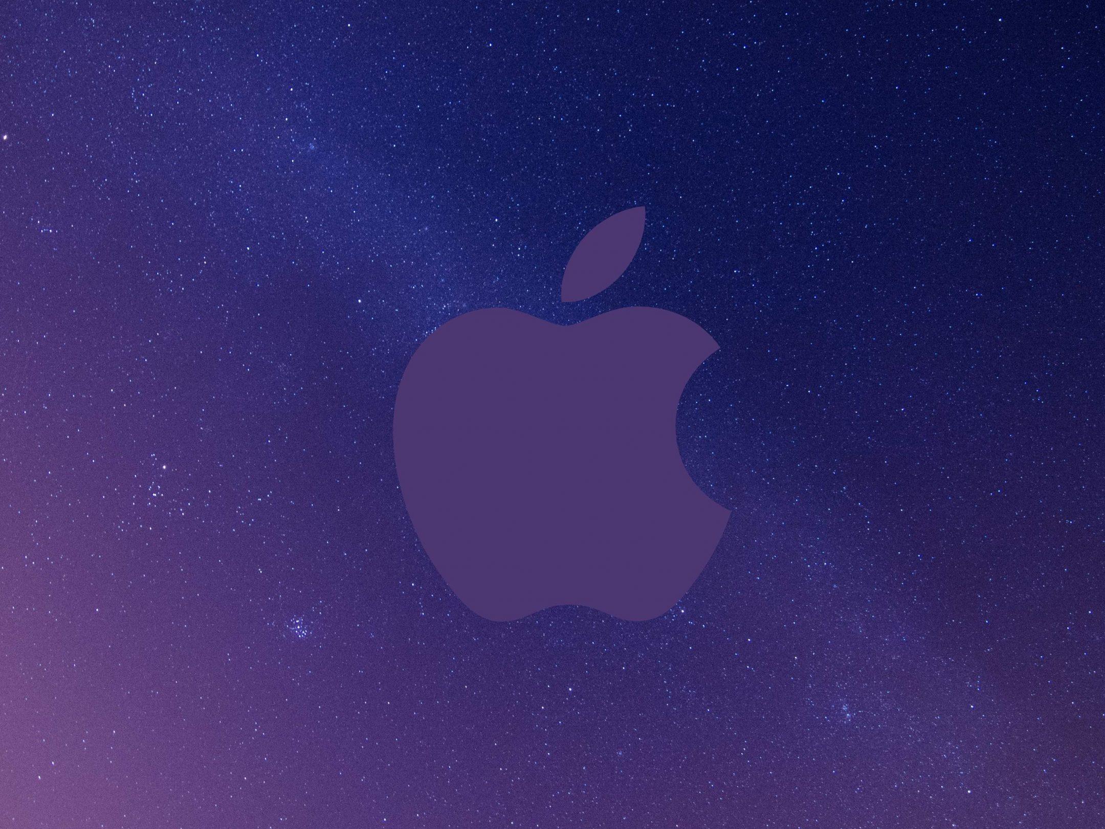 2160x1620 iPad wallpaper 4k Apple Logo Grey Sky Night Stars Space iPad Wallpaper 2160x1620 pixels resolution
