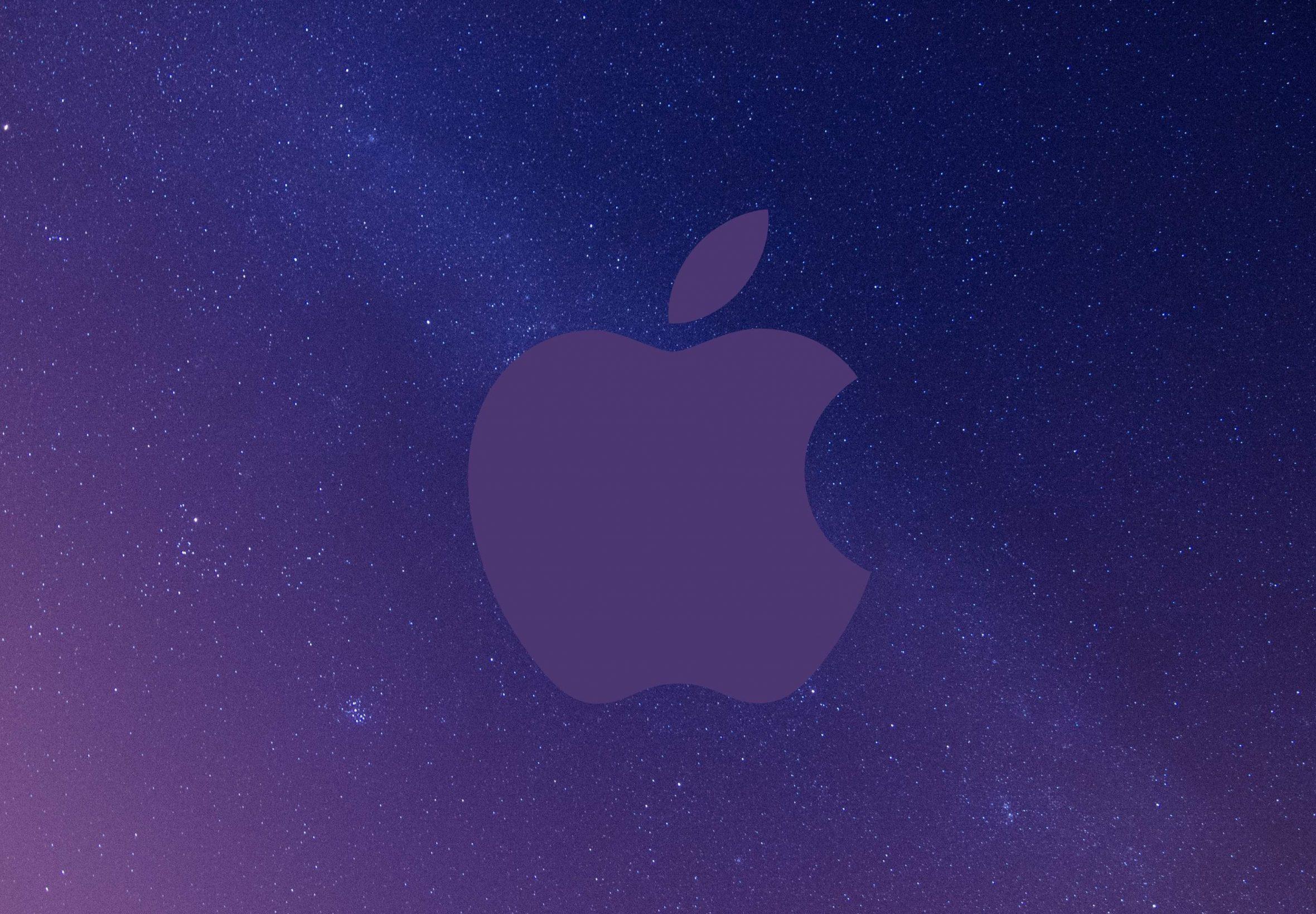 2360x1640 iPad Air wallpaper 4k Apple Logo Grey Sky Night Stars Space iPad Wallpaper 2360x1640 pixels resolution