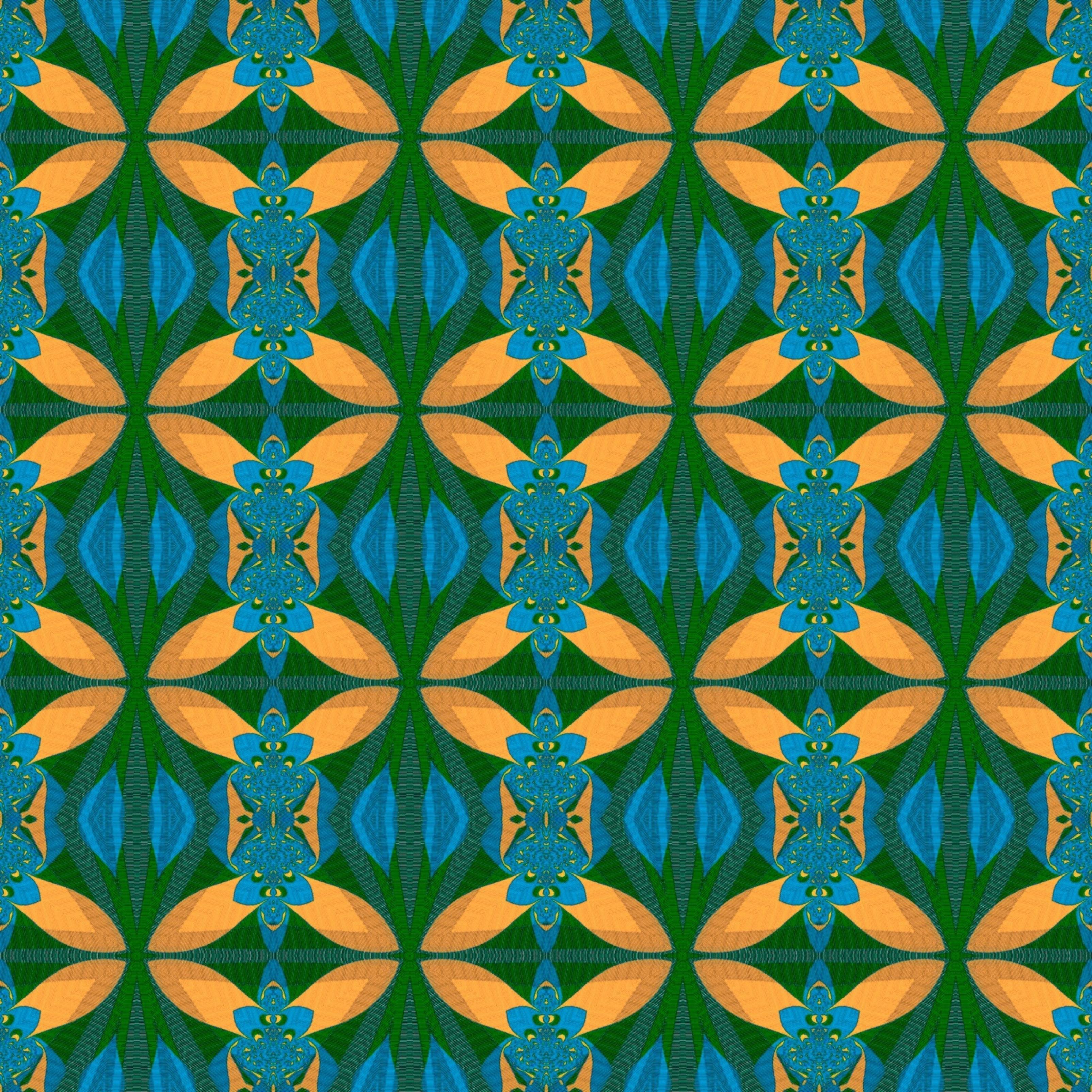 Colourful Pattern Digital iPad Wallpaper