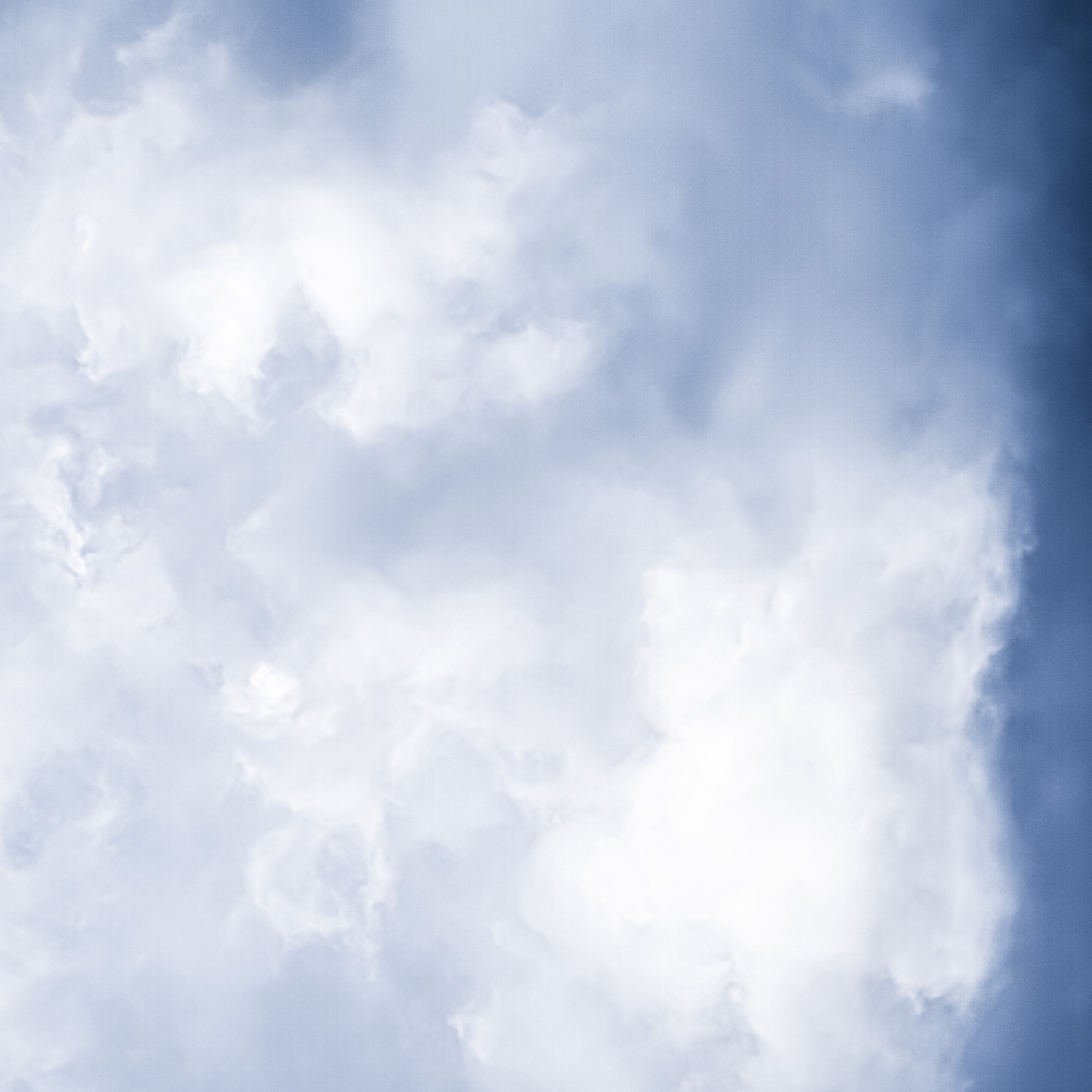Minimalist Blue Sky Cloudy iPad Wallpaper