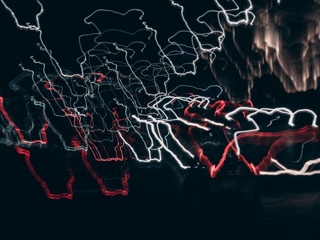 1024x768 wallpaper 4k Night Light Glowing Dark City Abstract iPad Wallpaper 1024x768 pixels resolution
