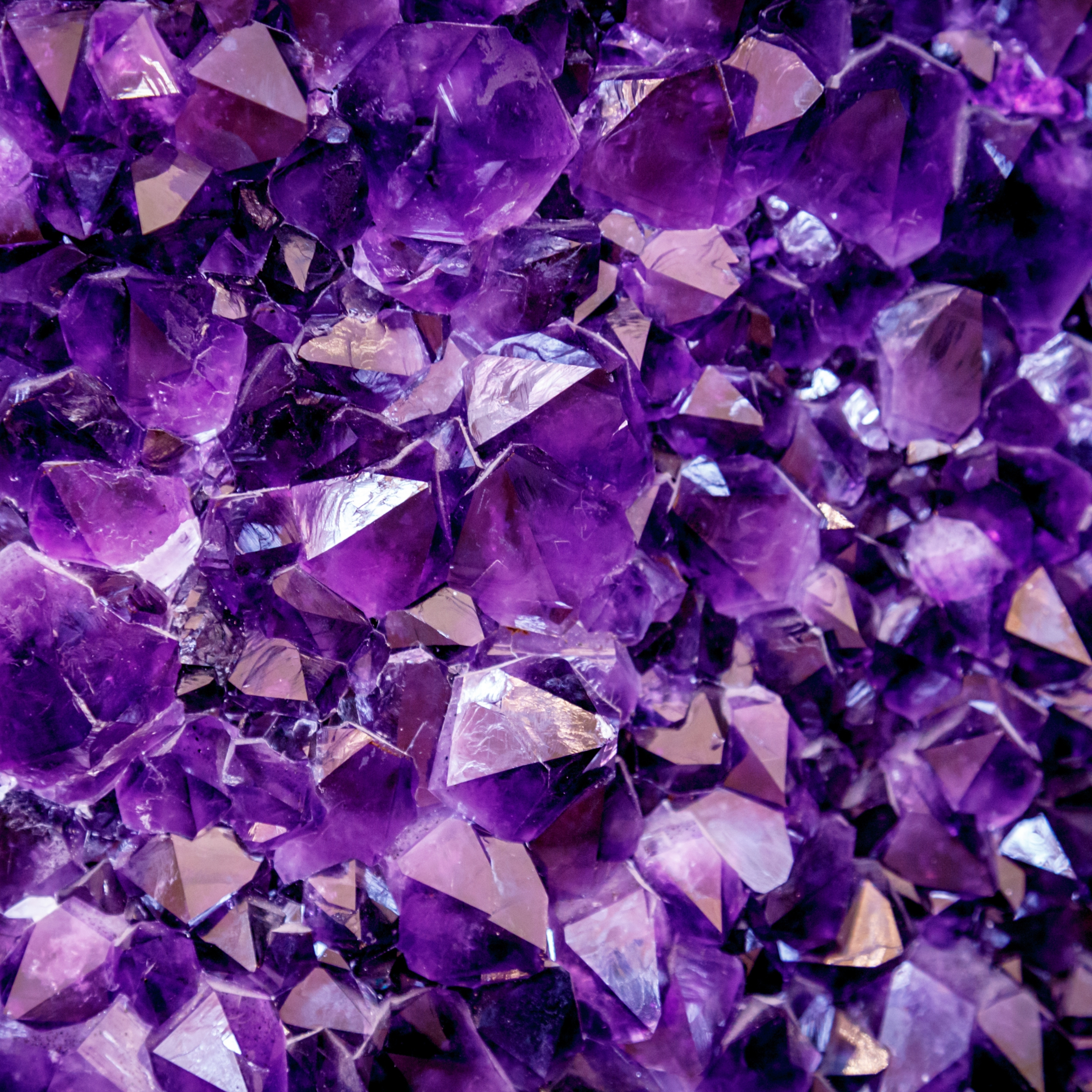 Purple Crystal Stone Precious Gem iPad Wallpaper