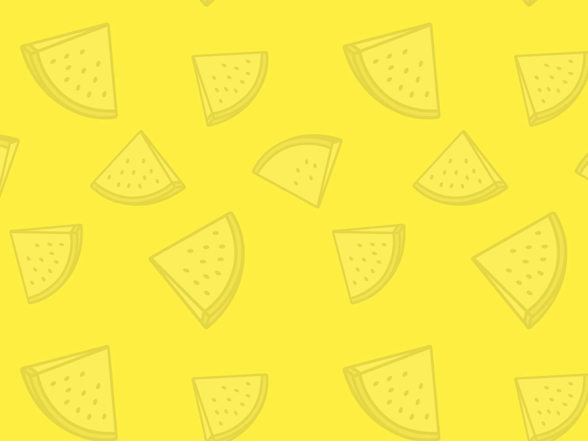 2048x1536 wallpaper Watermelon Pattern Yellow iPad Wallpaper 2048x1536 pixels resolution