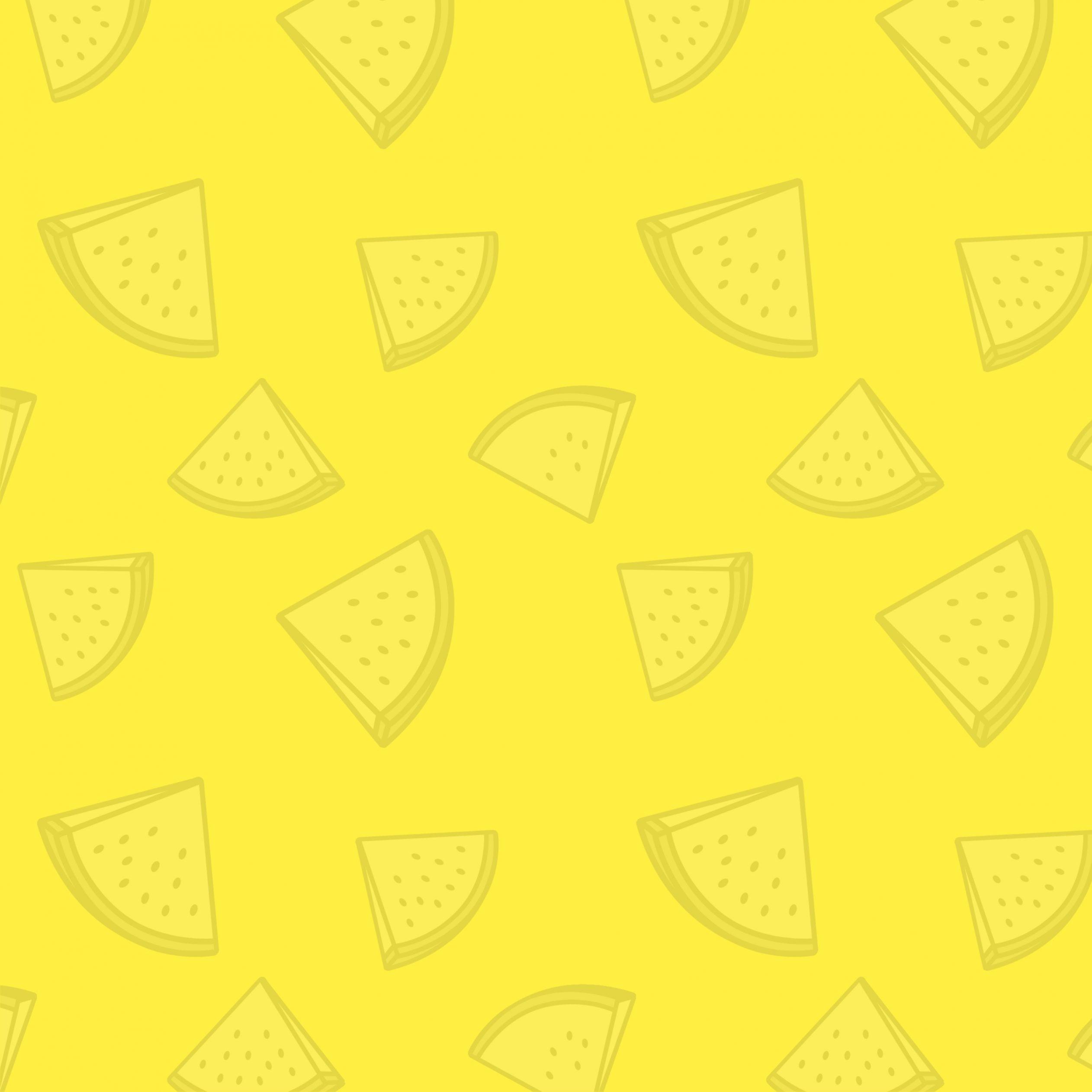 2524x2524 Parallax wallpaper 4k Watermelon Pattern Yellow iPad Wallpaper 2524x2524 pixels resolution