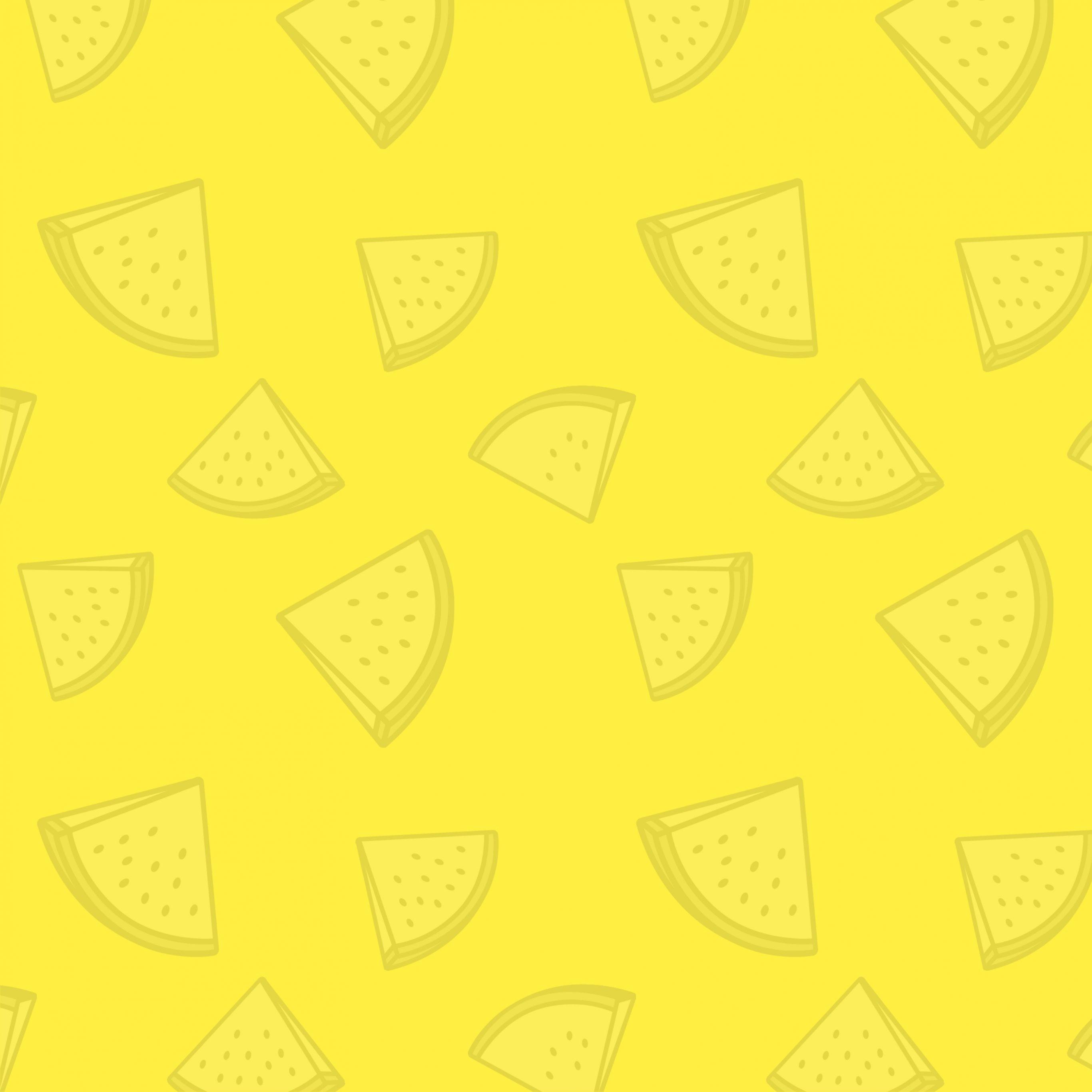 2732x2732 wallpapers 4k iPad Pro Watermelon Pattern Yellow iPad Wallpaper 2732x2732 pixels resolution
