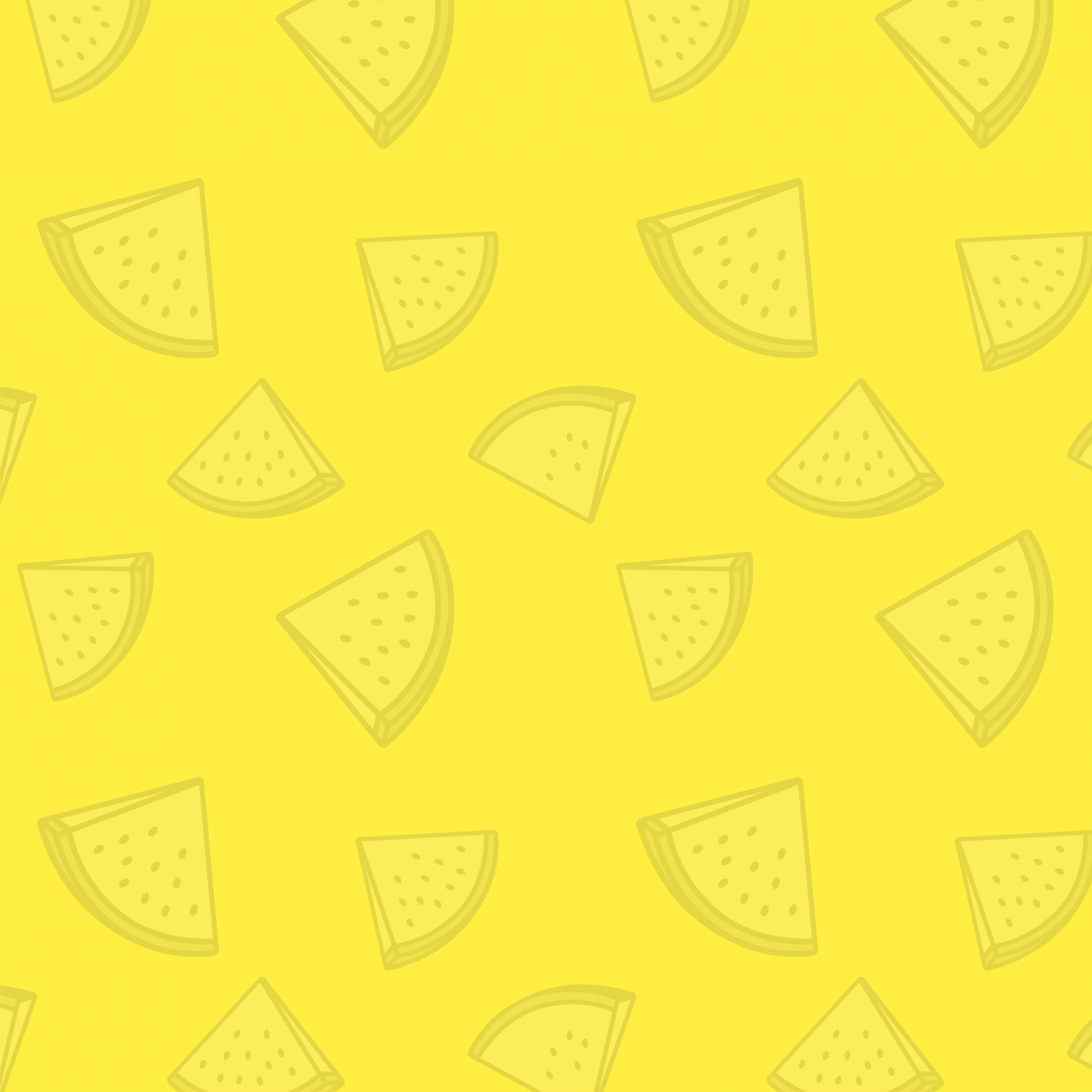 2780x2780 Parallax wallpaper 4k Watermelon Pattern Yellow iPad Wallpaper 2780x2780 pixels resolution