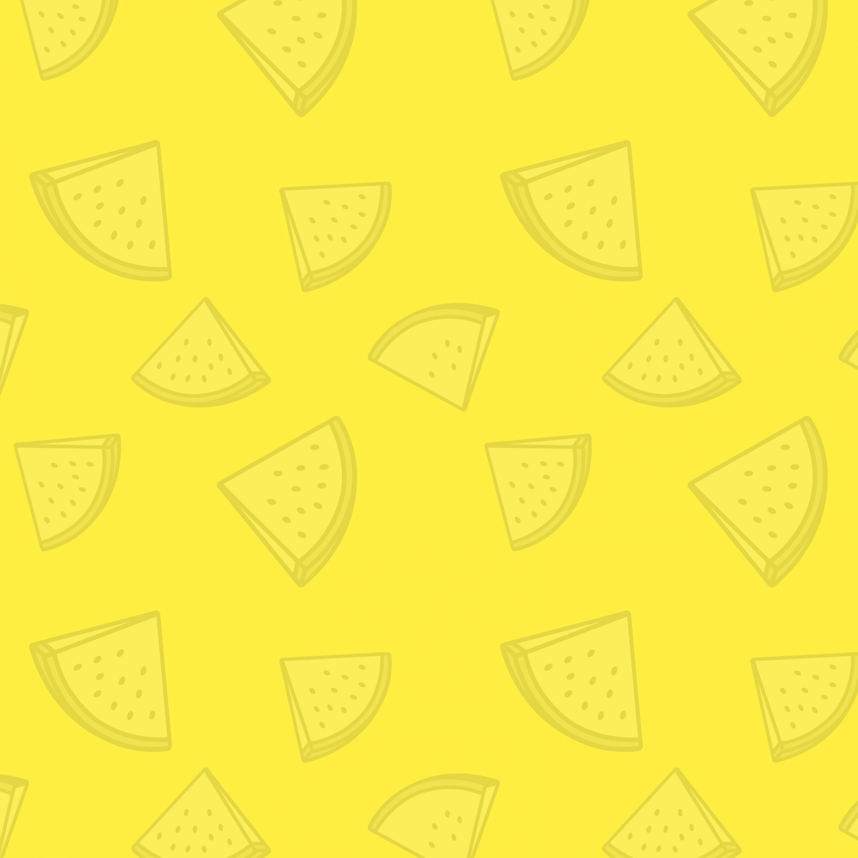 2934x2934 iOS iPad wallpaper 4k Watermelon Pattern Yellow iPad Wallpaper 2934x2934 pixels resolution