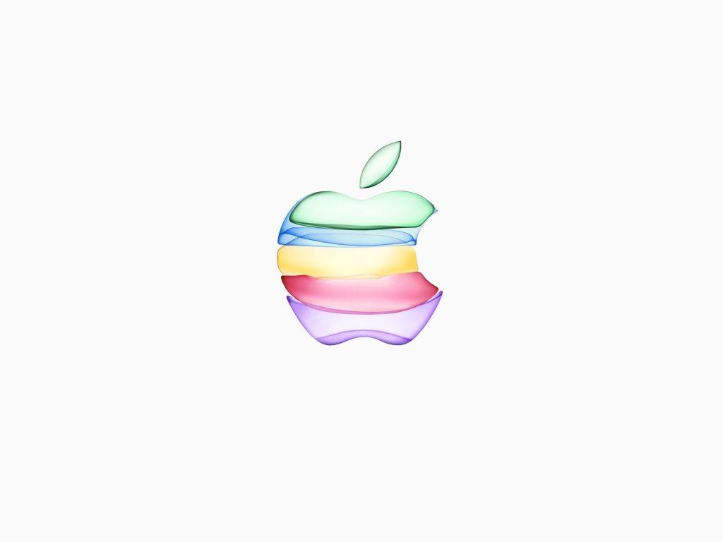 1024x768 wallpaper 4k iPhone 11 Apple Logo White Background iPad Wallpaper 1024x768 pixels resolution