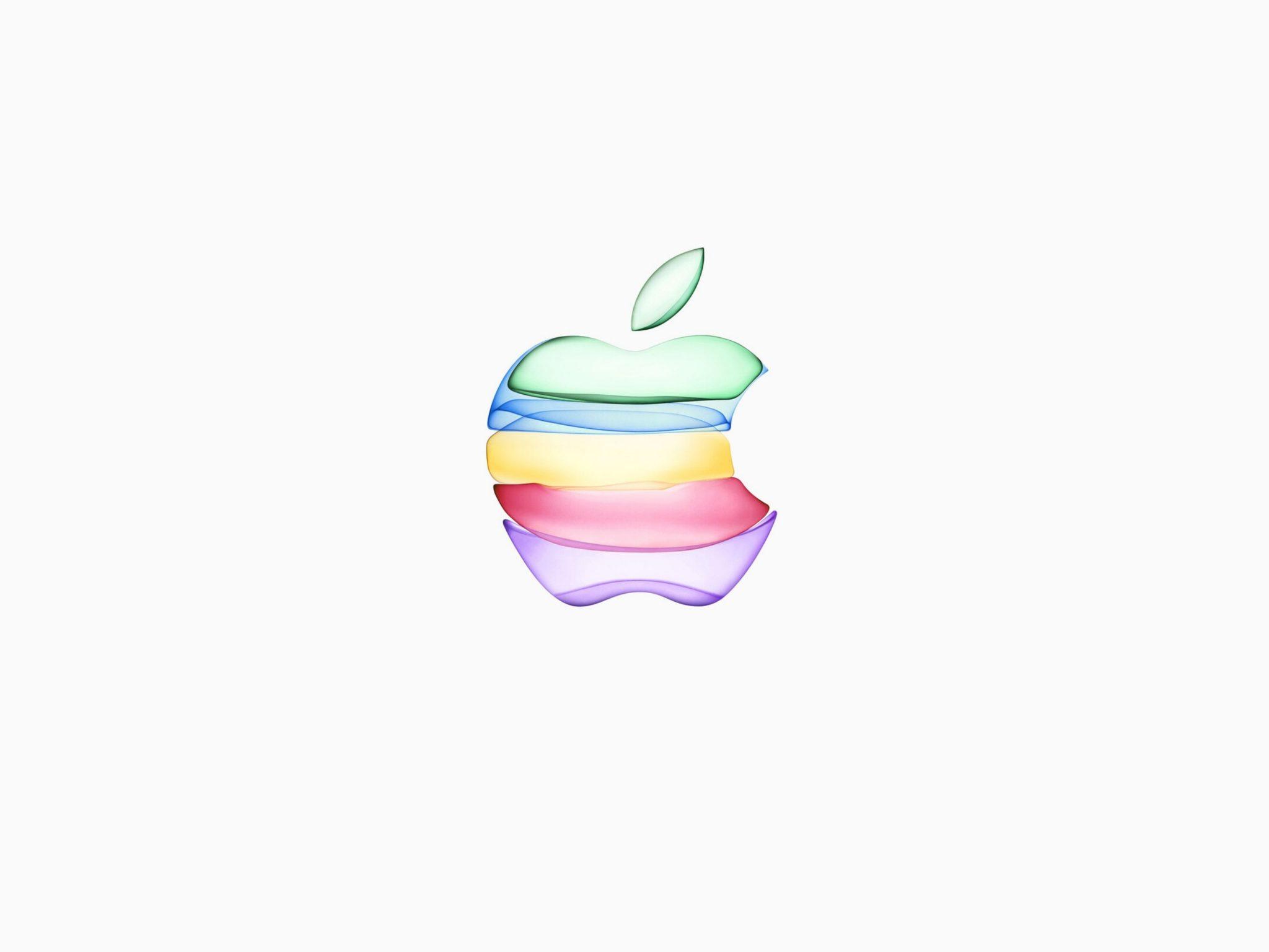 2048x1536 wallpaper iPhone 11 Apple Logo White Background iPad Wallpaper 2048x1536 pixels resolution