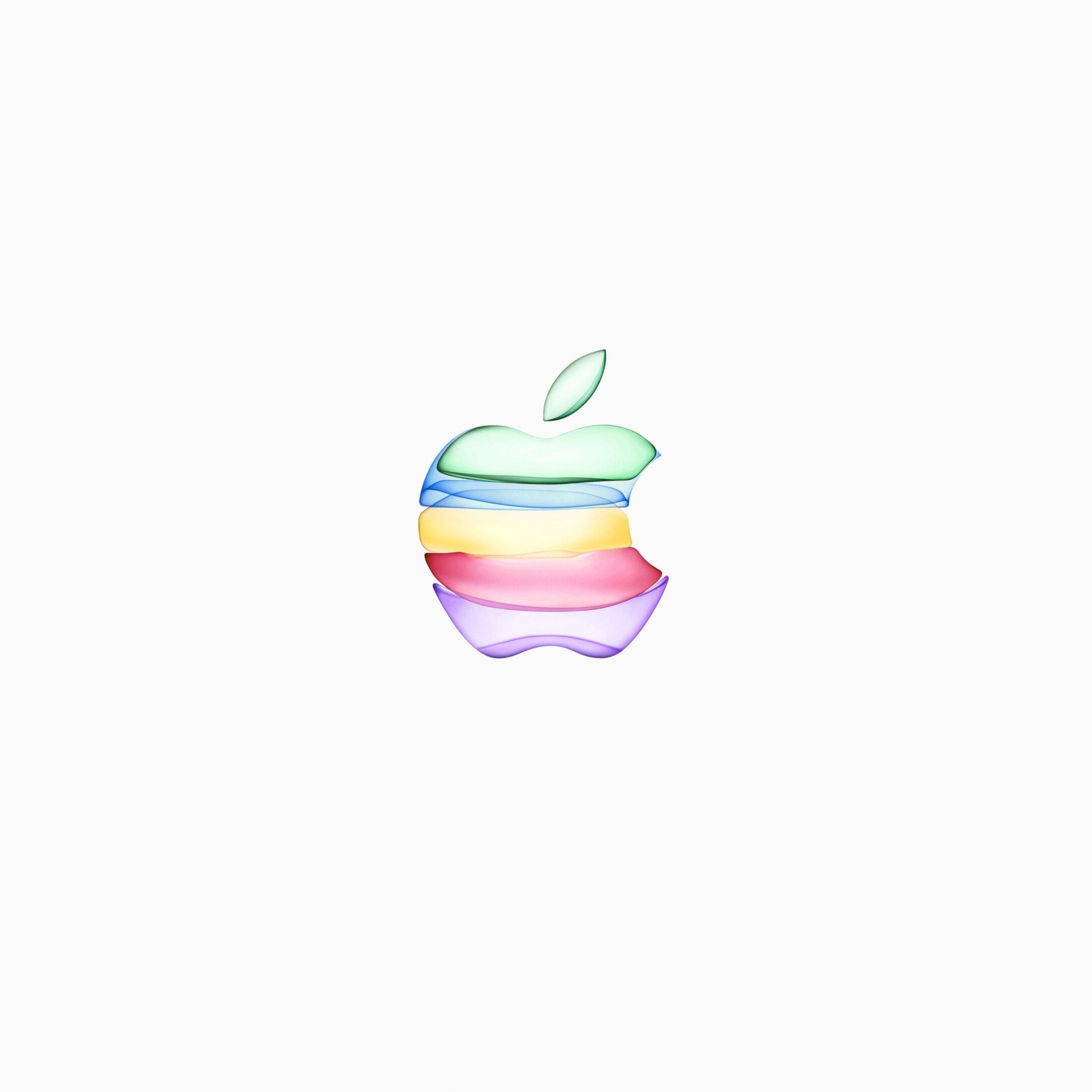 2780x2780 Parallax wallpaper 4k iPhone 11 Apple Logo White Background iPad Wallpaper 2780x2780 pixels resolution