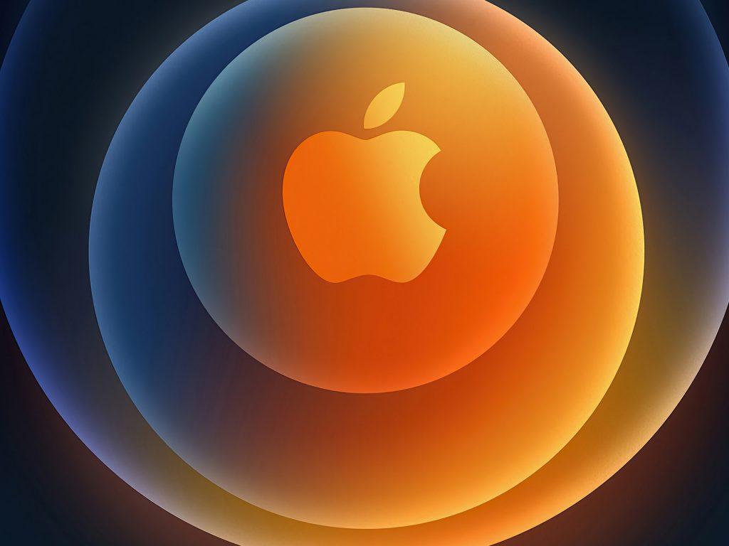 1024x768 wallpaper 4k iPhone 12 Apple Logo Circles iPad Wallpaper 1024x768 pixels resolution