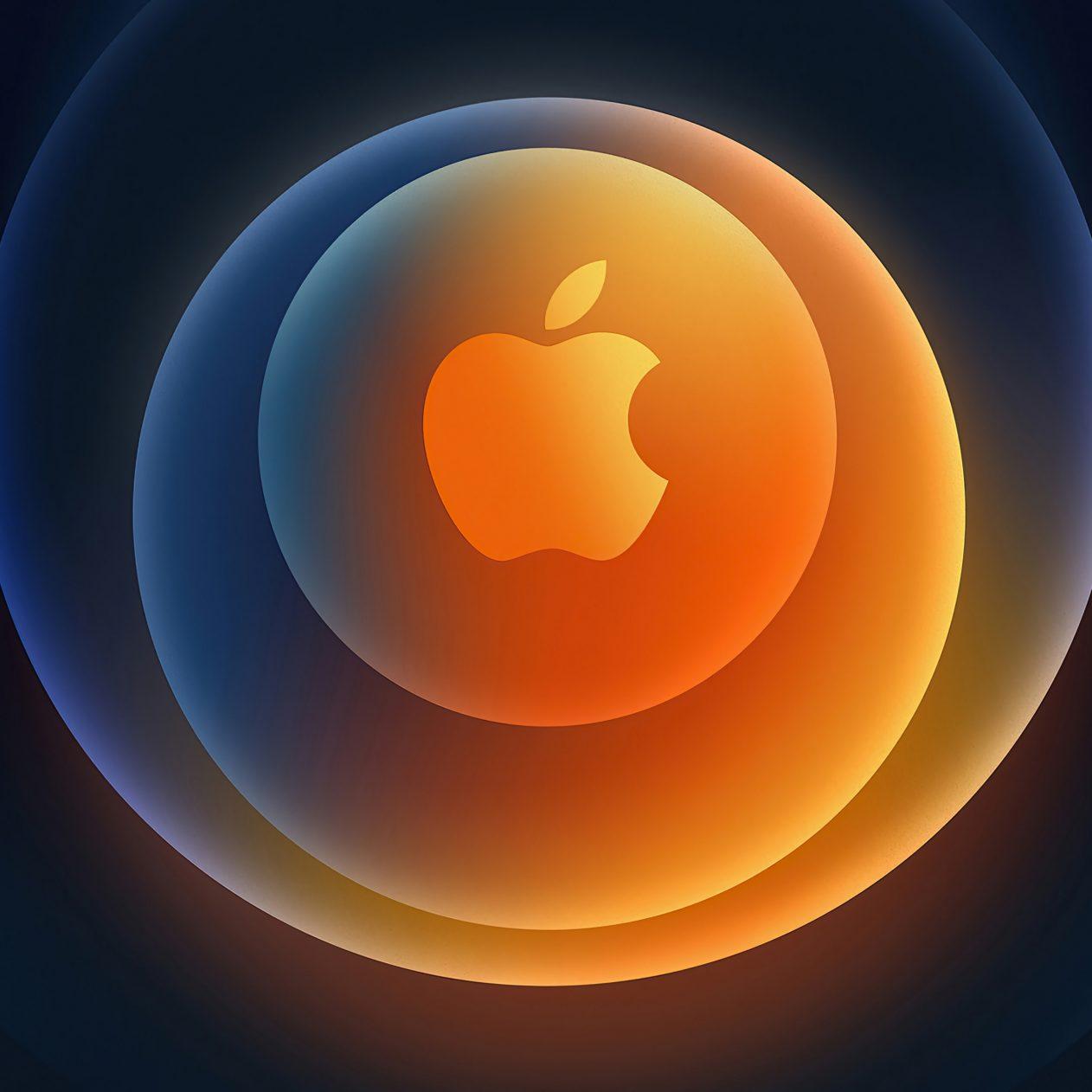 1262x1262 Parallax wallpaper 4k iPhone 12 Apple Logo Circles iPad Wallpaper 1262x1262 pixels resolution