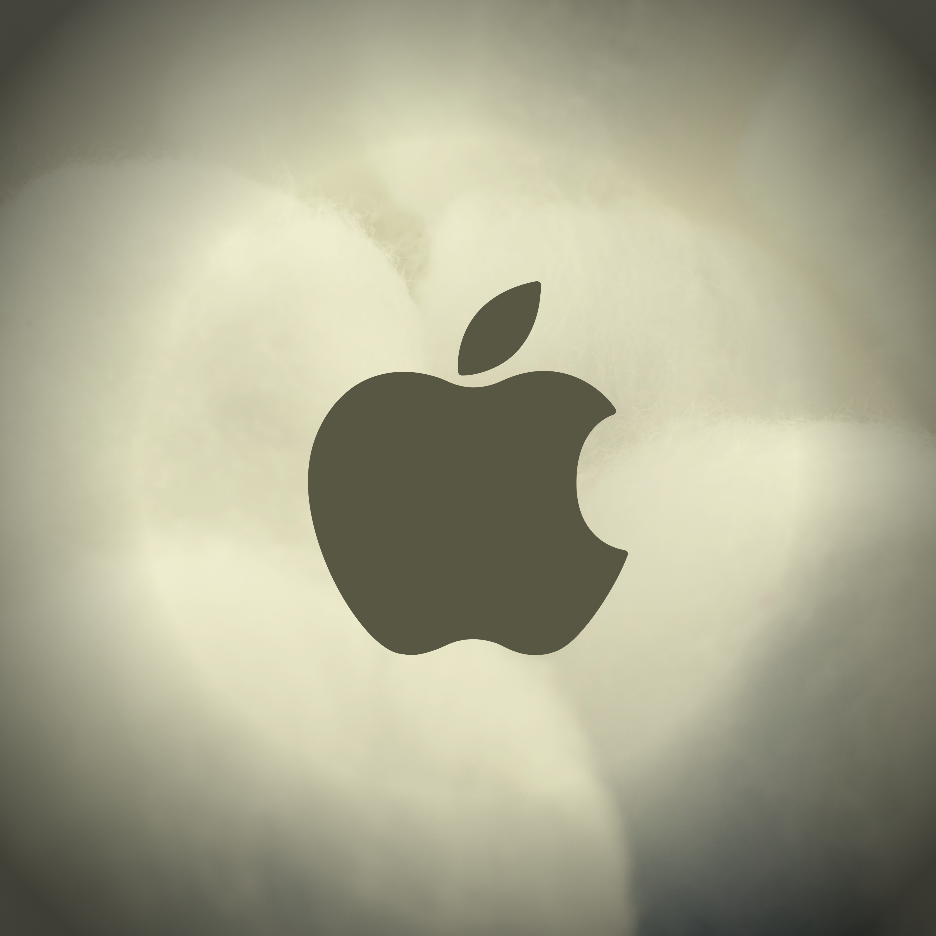 iPad Wallpapers Apple Logo Cotton Background iPad Wallpaper 3208x3208 px