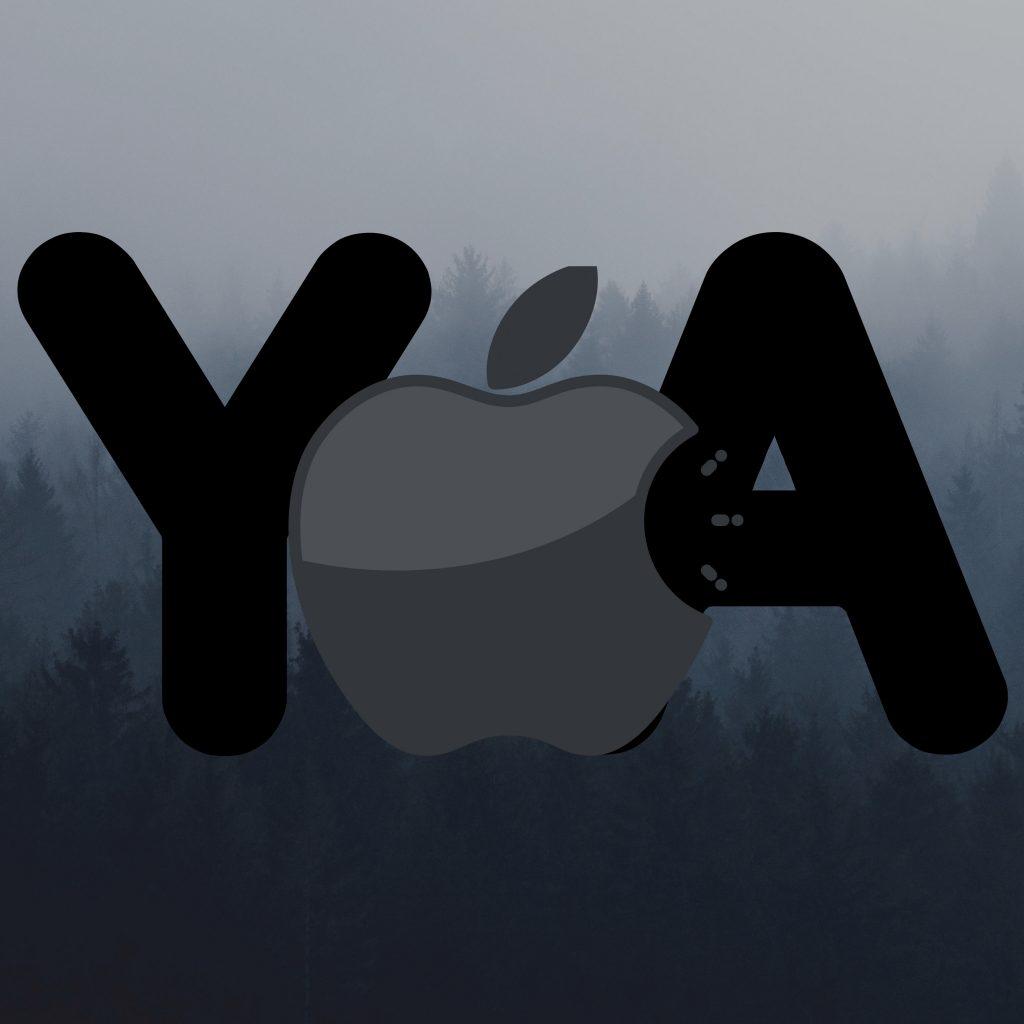 1024x1024 wallpaper 4k Apple Logo Ya Grey Background iPad Wallpaper 1024x1024 pixels resolution