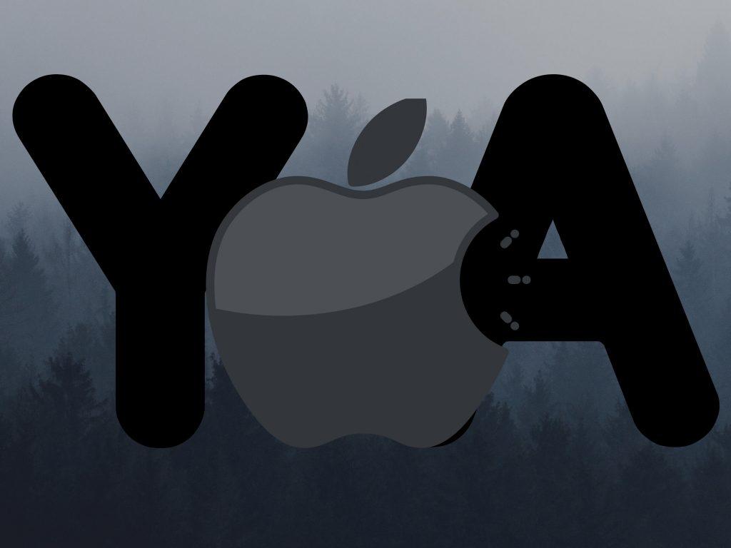 1024x768 wallpaper 4k Apple Logo Ya Grey Background iPad Wallpaper 1024x768 pixels resolution