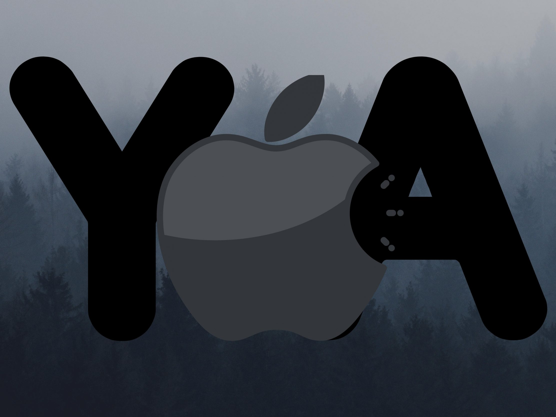 2224x1668 iPad Pro wallpapers Apple Logo Ya Grey Background iPad Wallpaper 2224x1668 pixels resolution