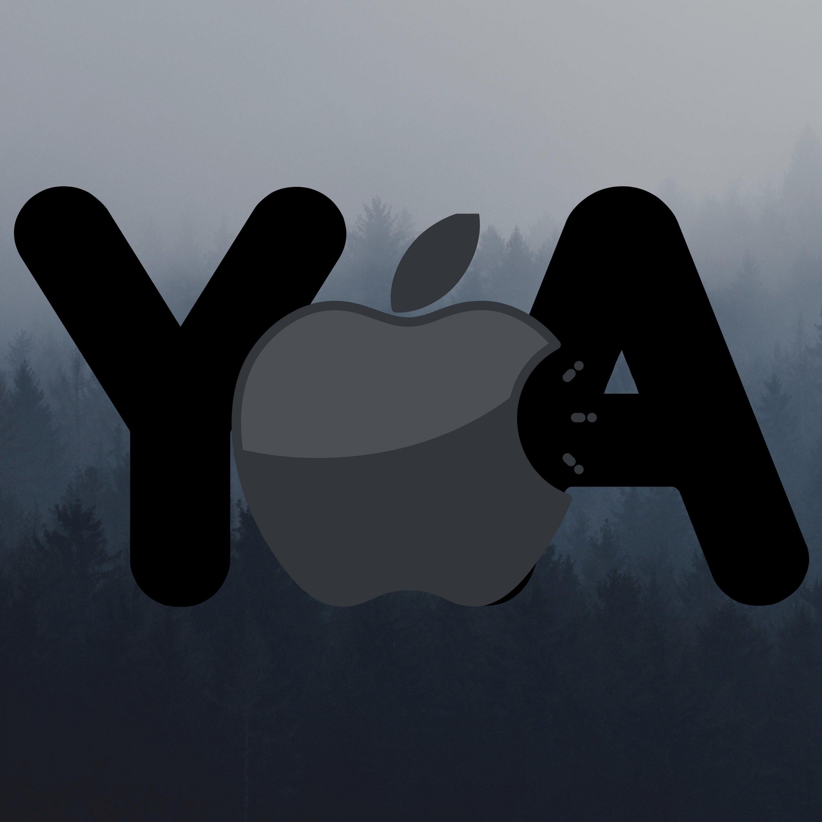 2732x2732 wallpapers 4k iPad Pro Apple Logo Ya Grey Background iPad Wallpaper 2732x2732 pixels resolution
