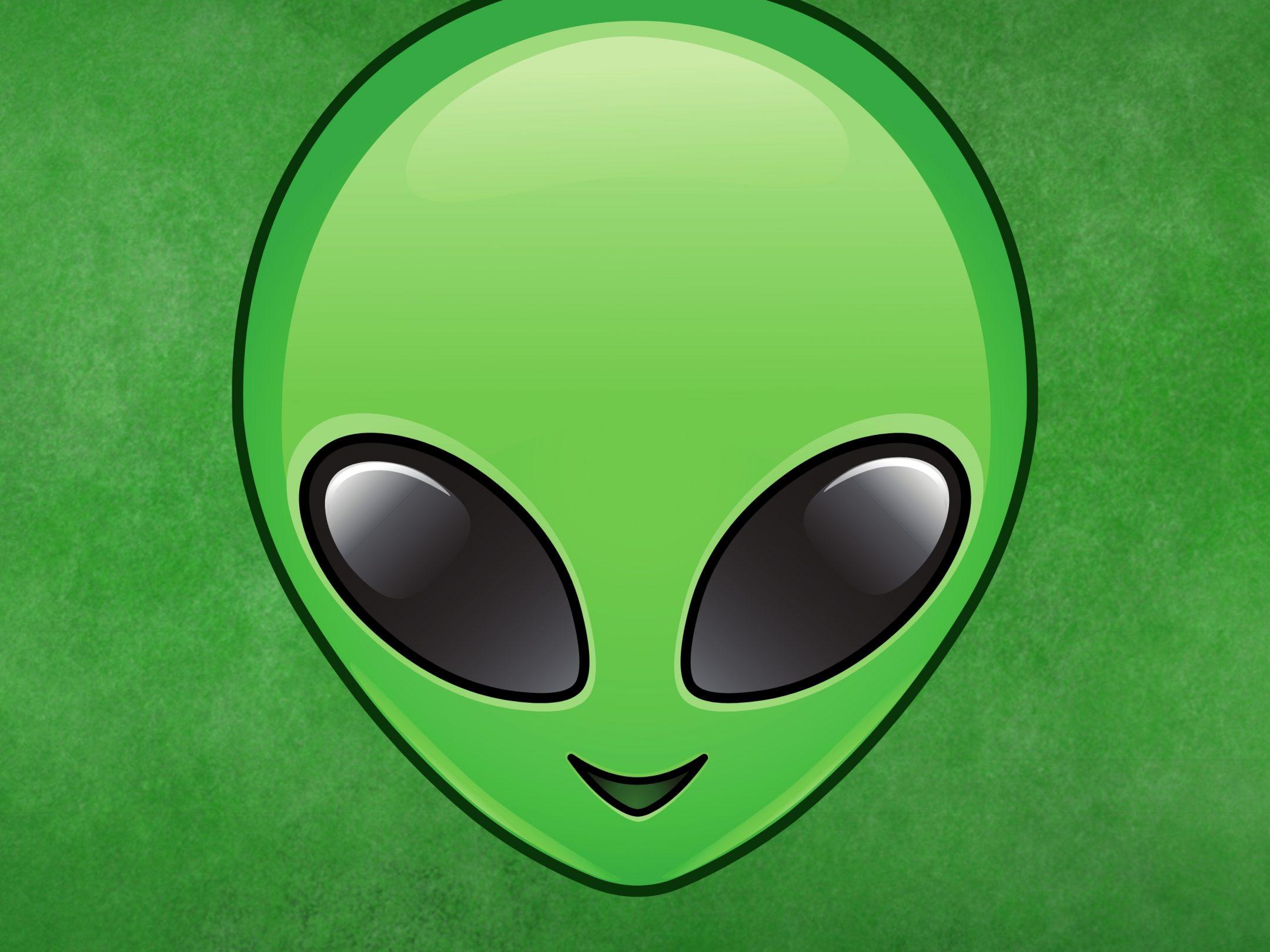 2160x1620 iPad wallpaper 4k Alien Emoji Face Invader Halloween Spaceship Green iPad Wallpaper 2160x1620 pixels resolution