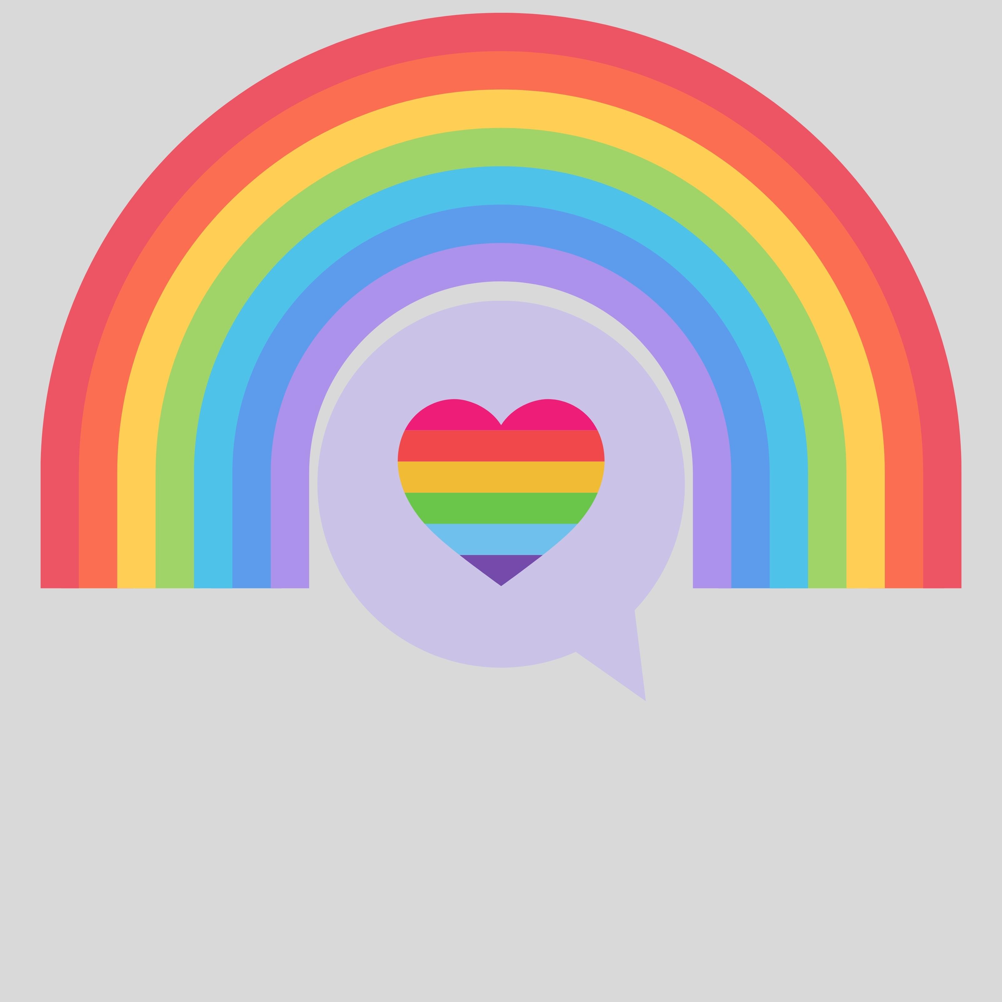 Colorful Rainbow Shape Art iPad Wallpaper