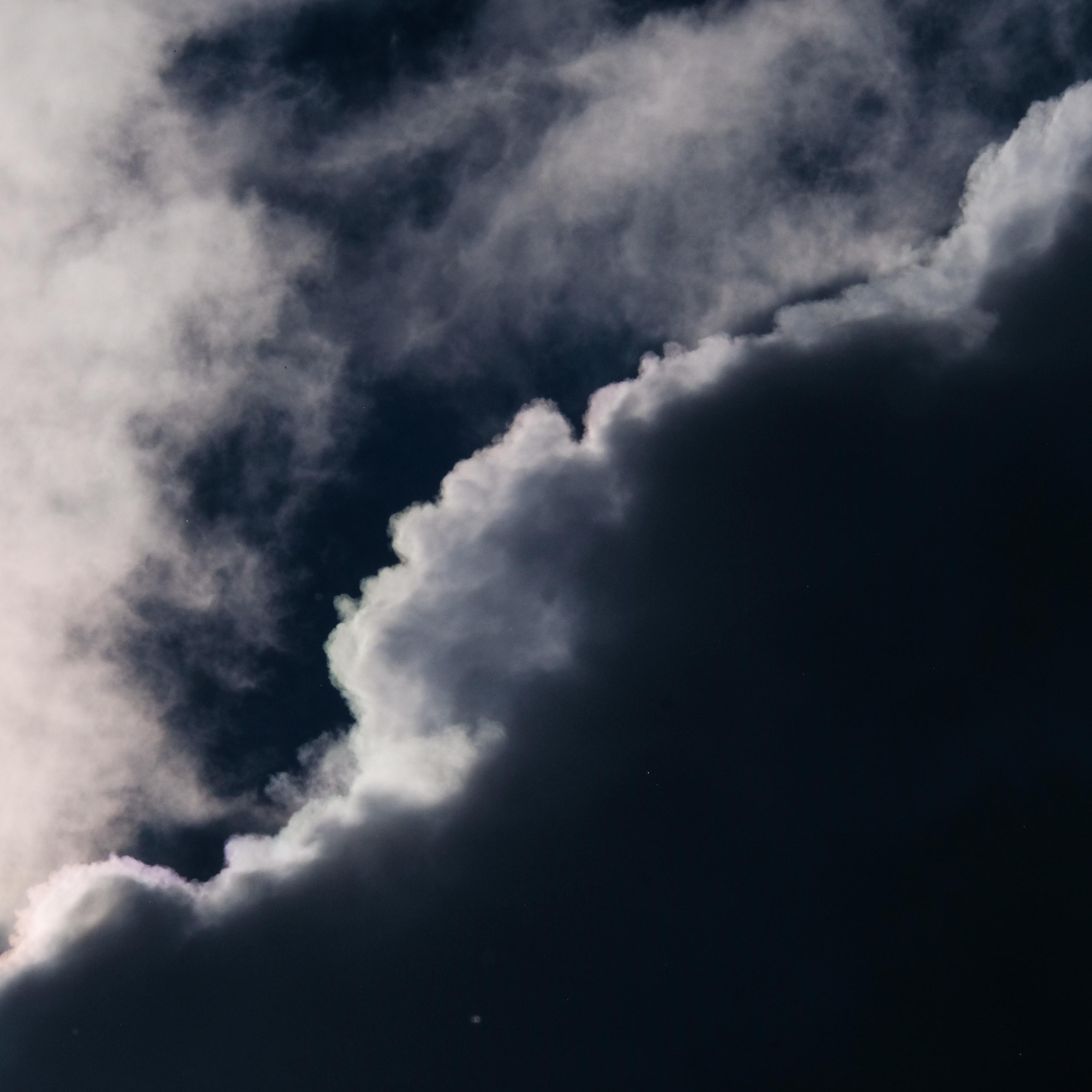 Dark Clouds Nature Sky iPad Wallpaper