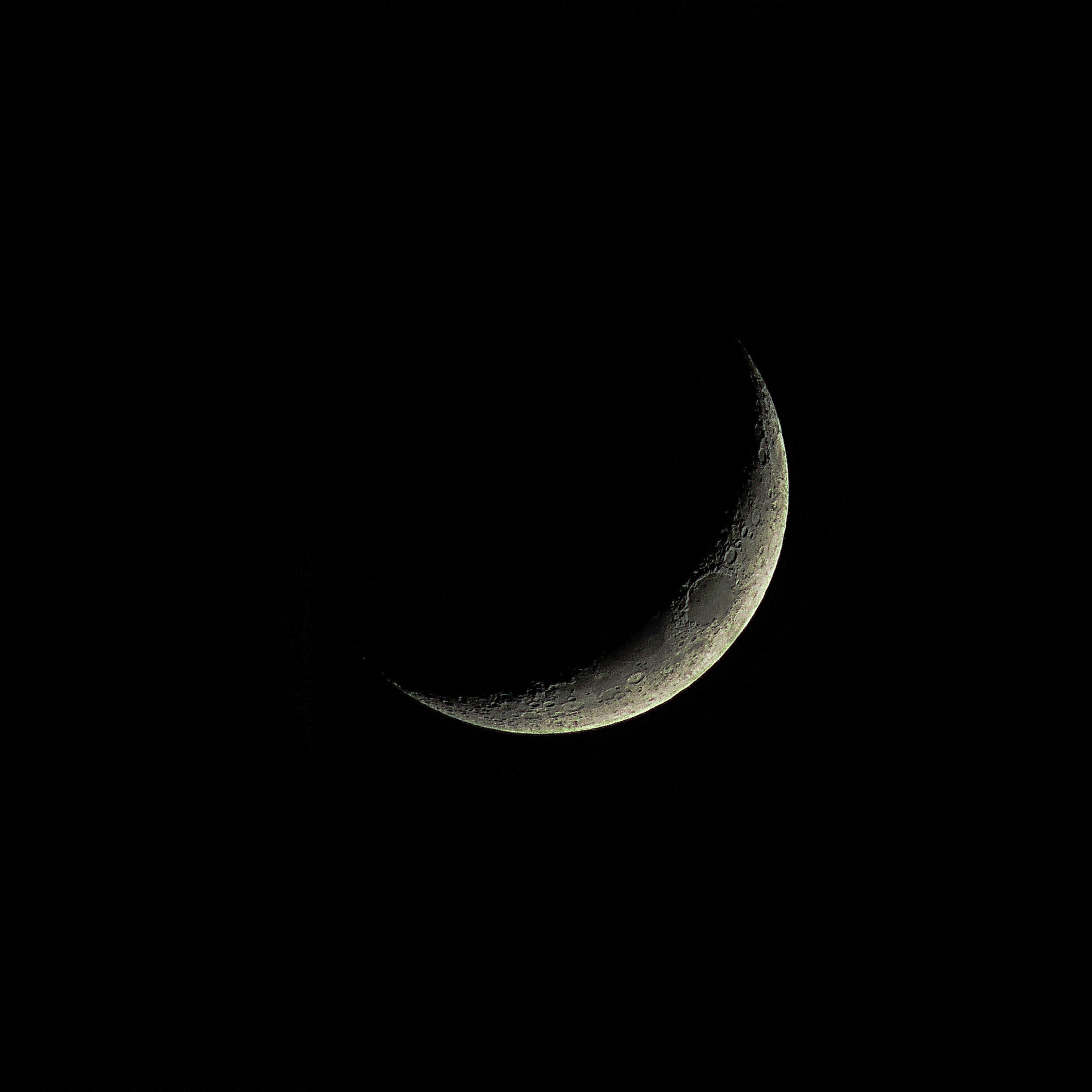 iPad Wallpapers Dark Moon Crescent Luna Space iPad Wallpaper 3208x3208 px