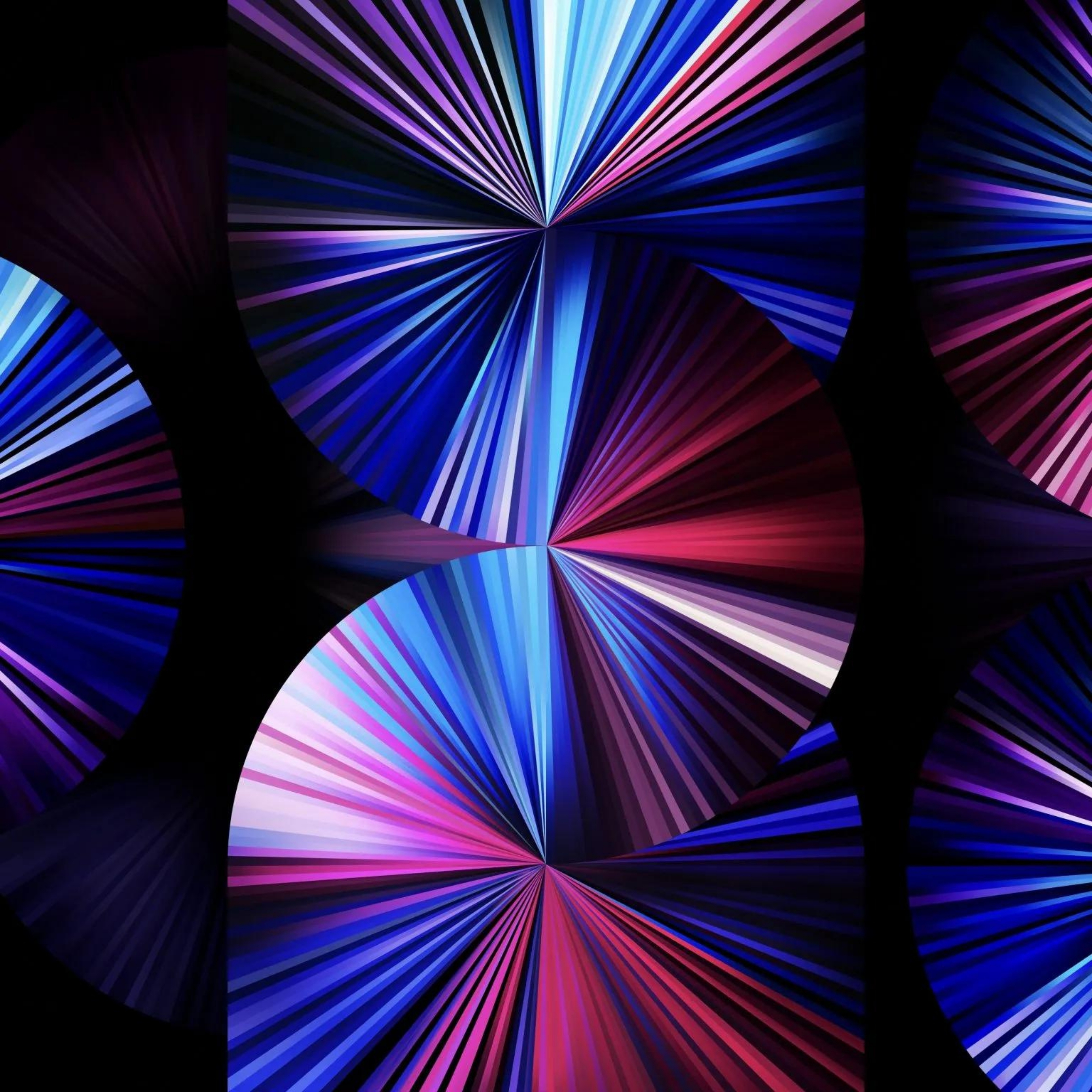 iPad Pro 2021 11 Inch Light Blue Dark Black Background iPad Wallpaper
