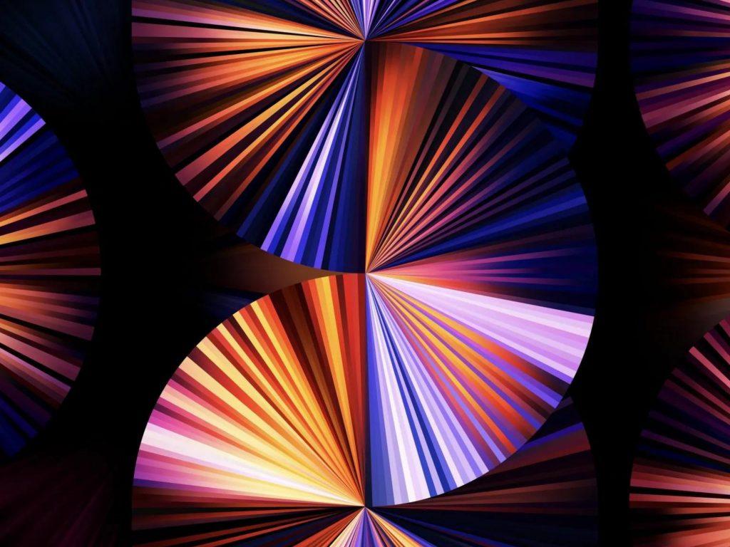 1024x768 wallpaper 4k iPad Pro 2021 12 9 Inch Purple Blue Dark Black Background iPad Wallpaper 1024x768 pixels resolution